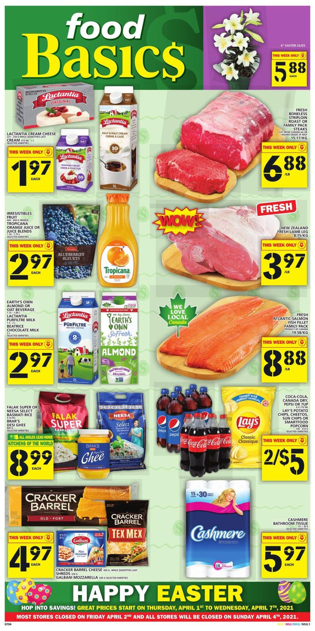 Food Basics Flyer - 04/01-04/07/2021