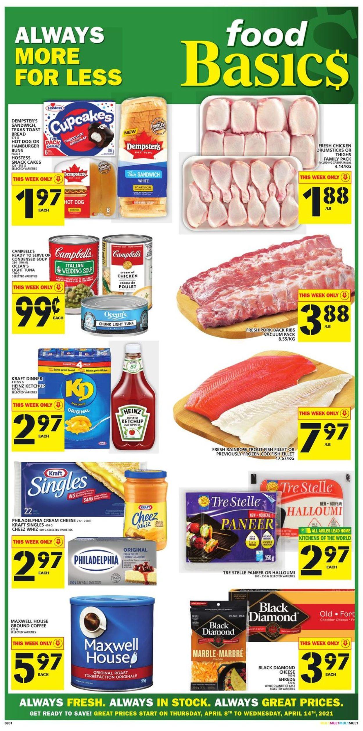 Food Basics Flyer - 04/08-04/14/2021