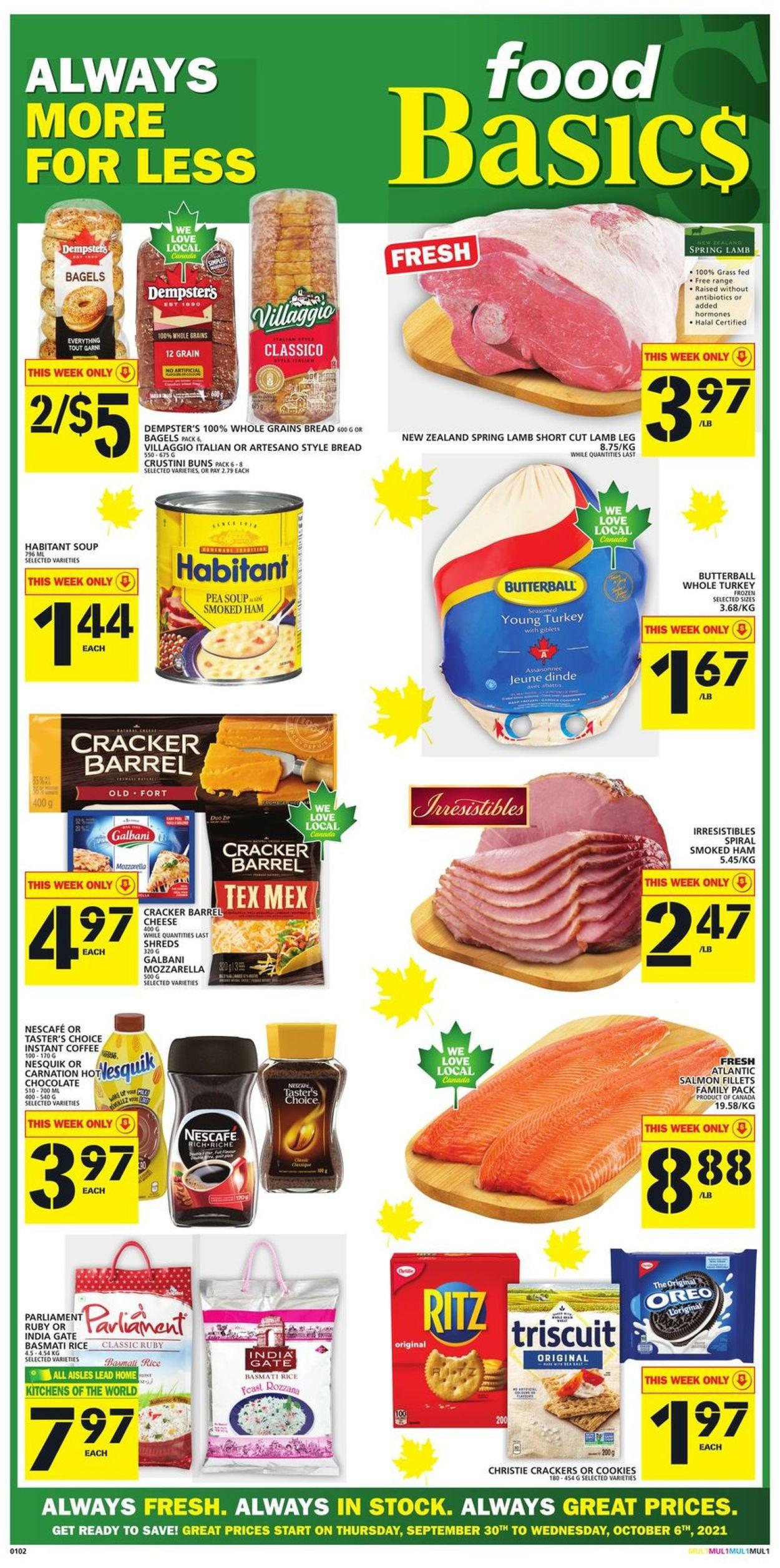 Food Basics Flyer - 09/30-10/06/2021