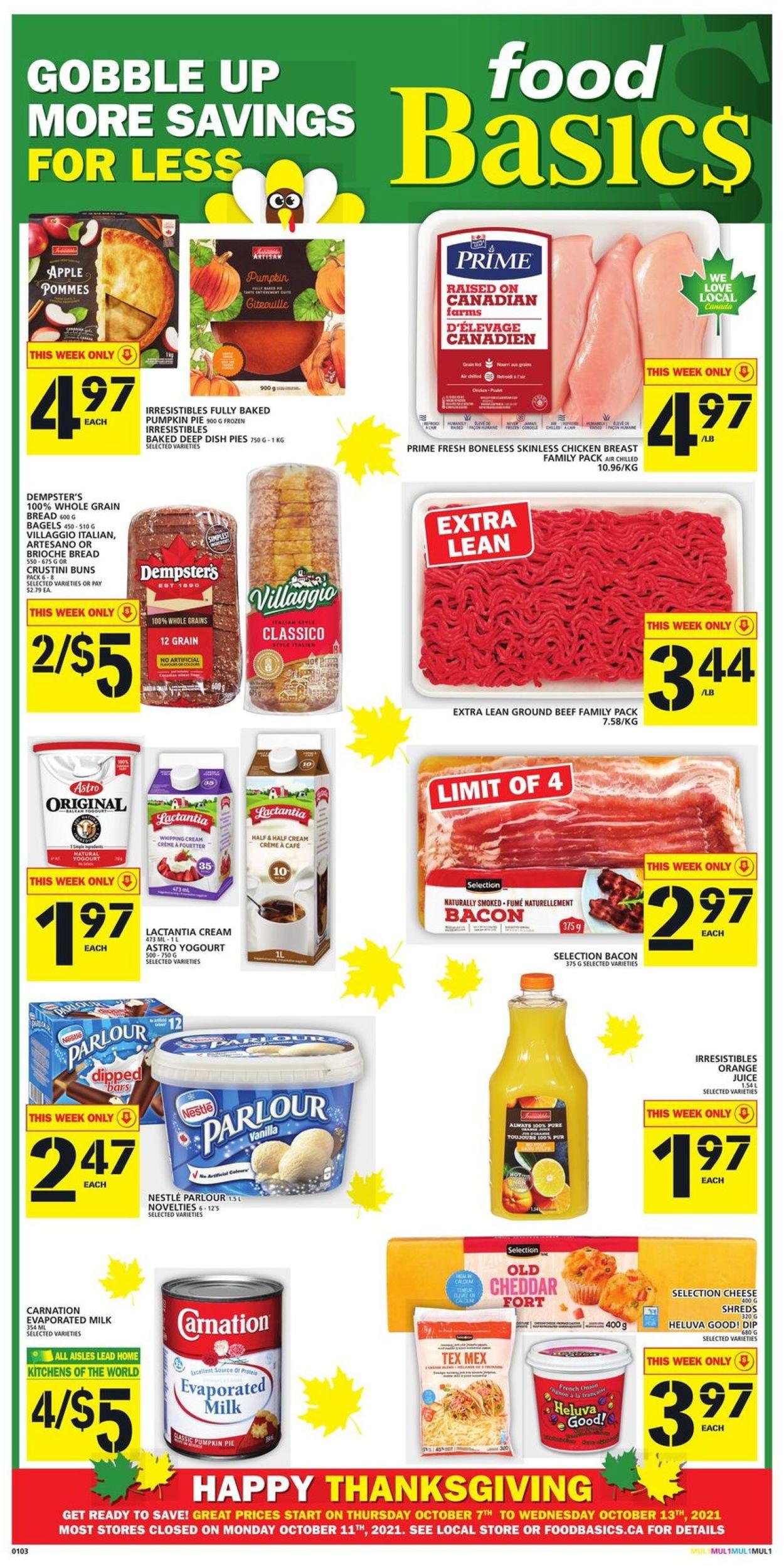 Food Basics Flyer - 10/07-10/13/2021