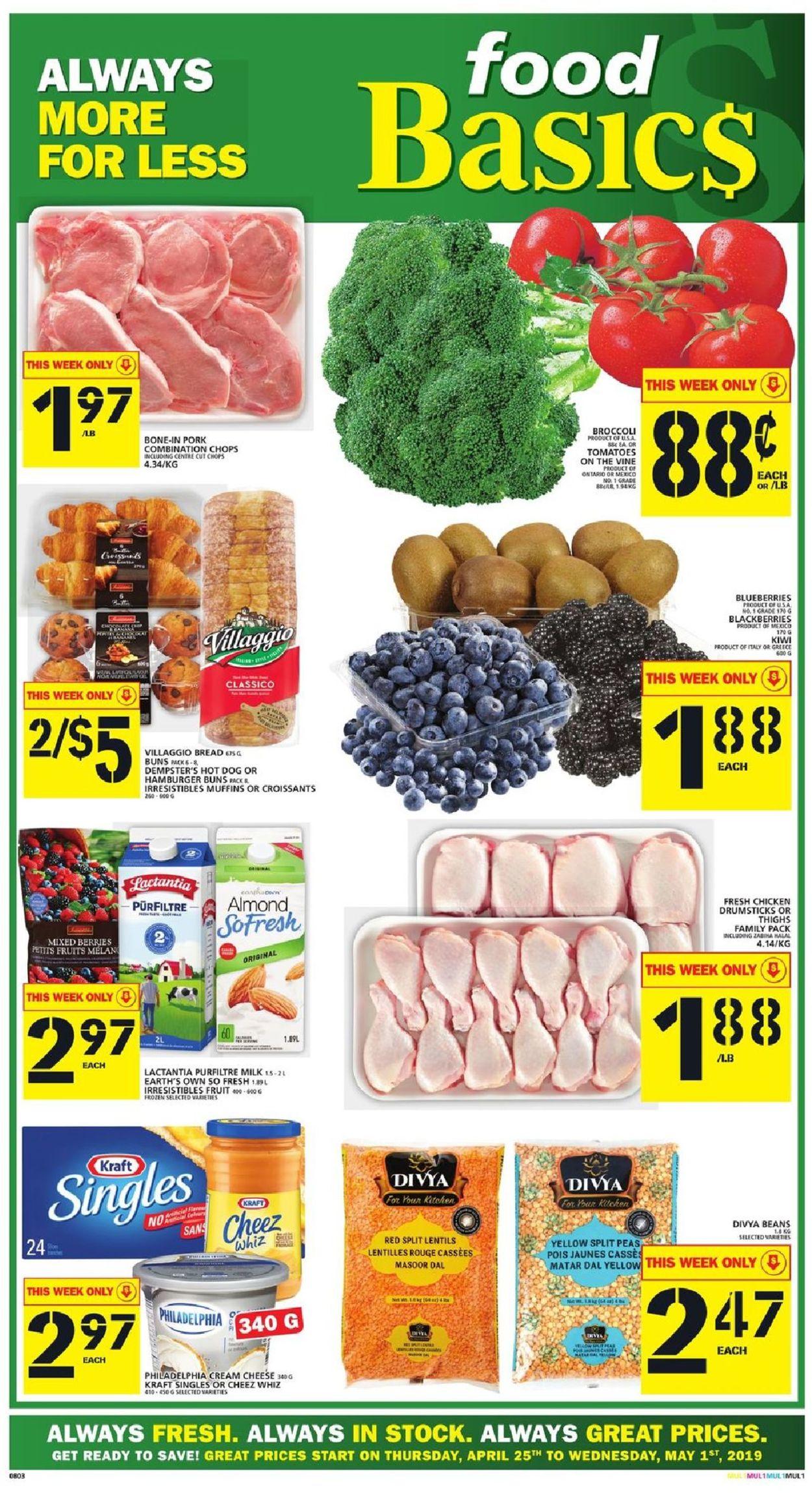 Food Basics Flyer - 04/25-05/01/2019