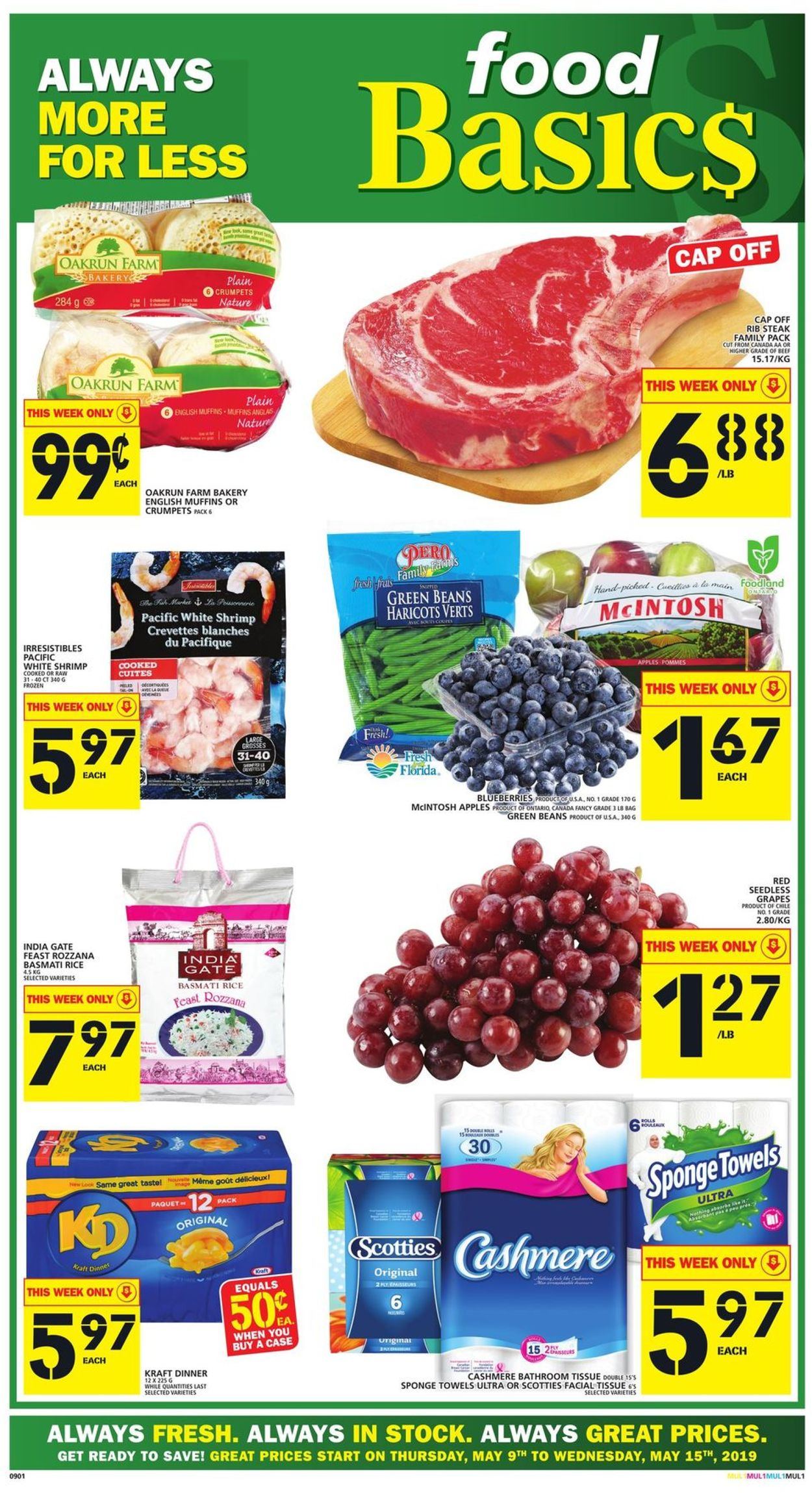 Food Basics Flyer - 05/09-05/15/2019