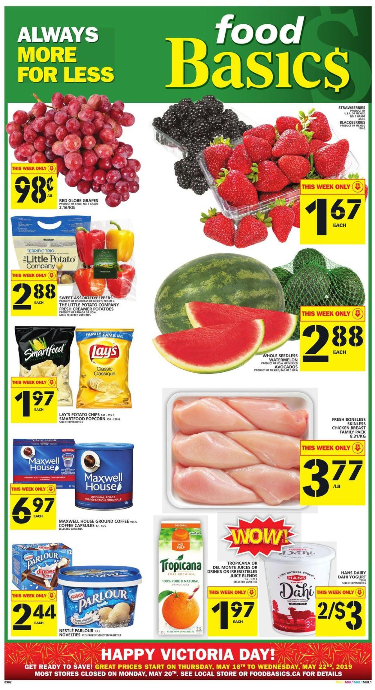Food Basics Flyer - 05/16-05/22/2019