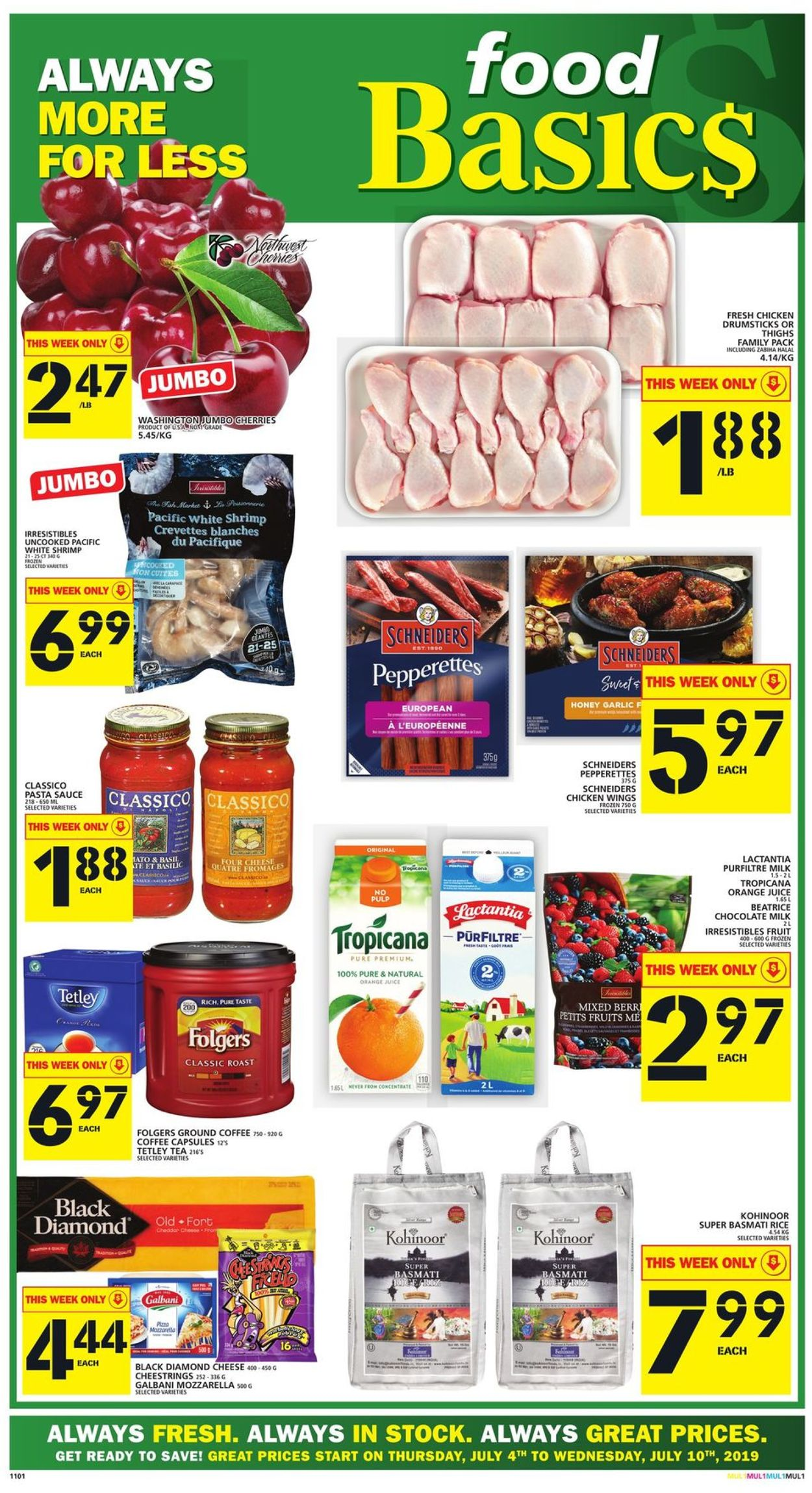 Food Basics Flyer - 07/04-07/10/2019