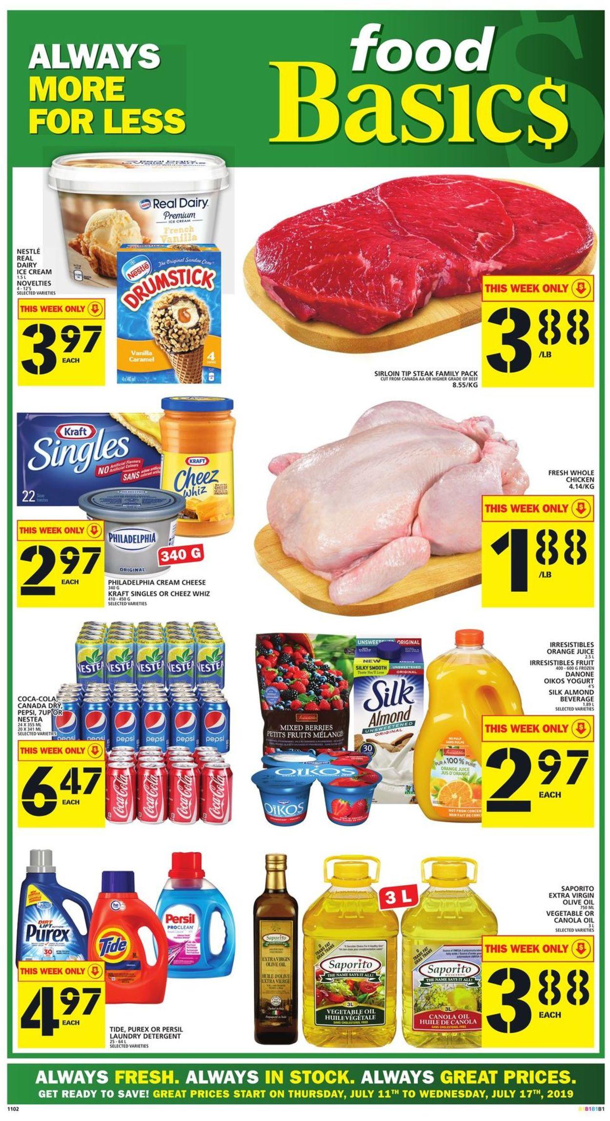 Food Basics Flyer - 07/11-07/17/2019