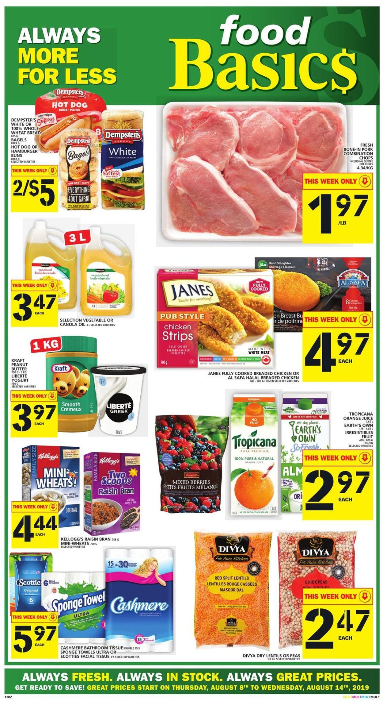 Food Basics Flyer - 08/08-08/14/2019