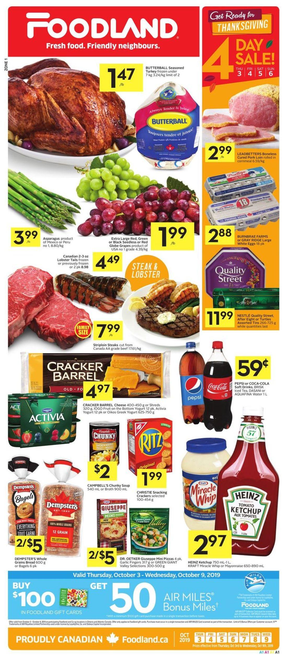Foodland Flyer - 10/03-10/09/2019