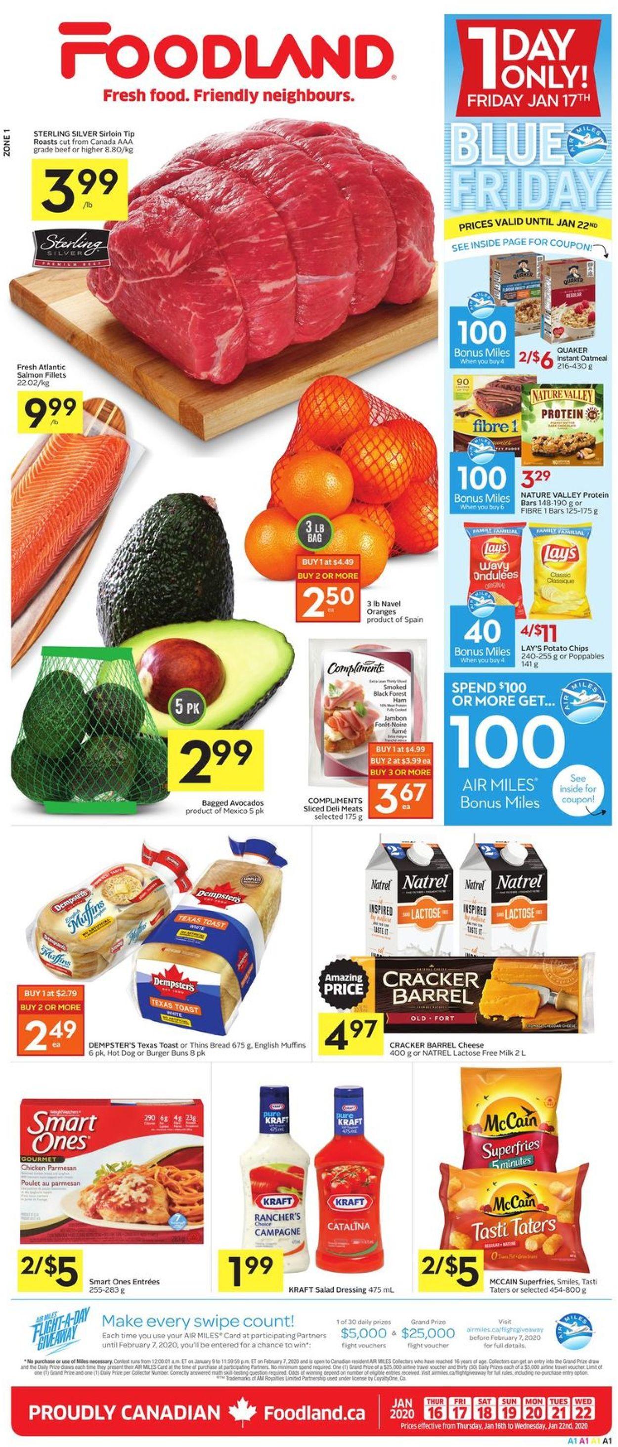 Foodland Flyer - 01/16-01/22/2020