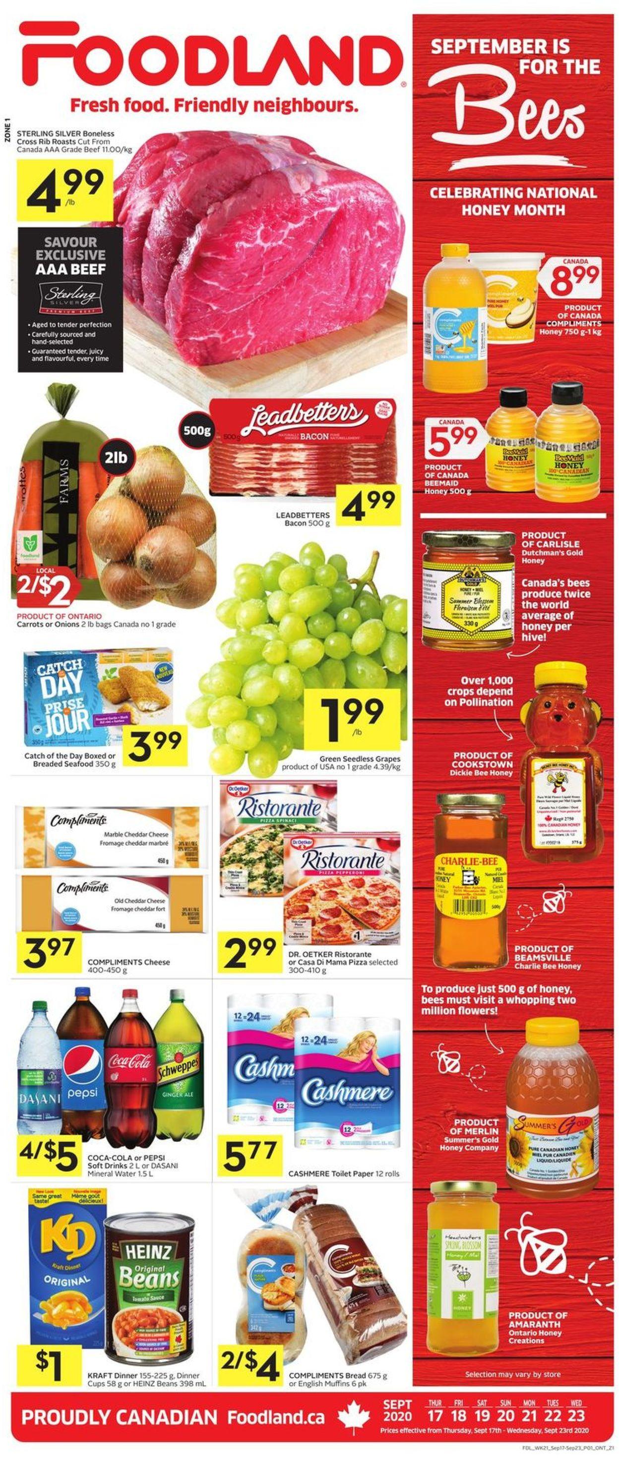 Foodland Flyer - 09/17-09/23/2020