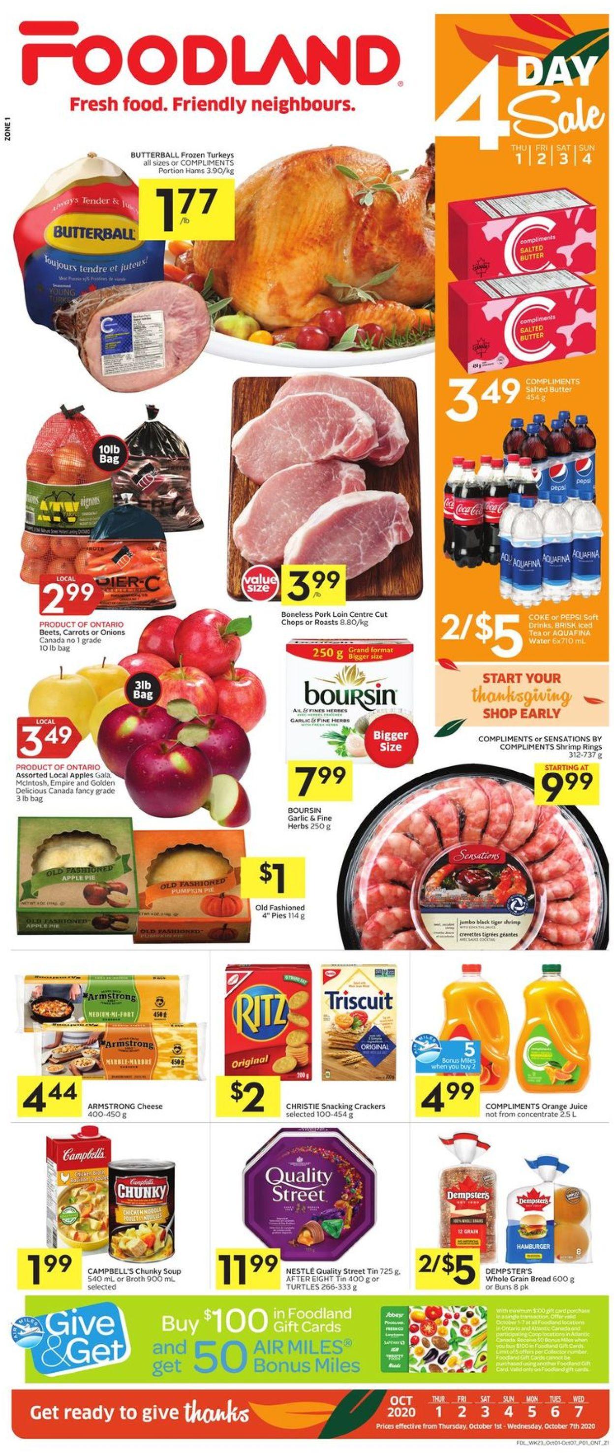 Foodland Flyer - 10/01-10/07/2020
