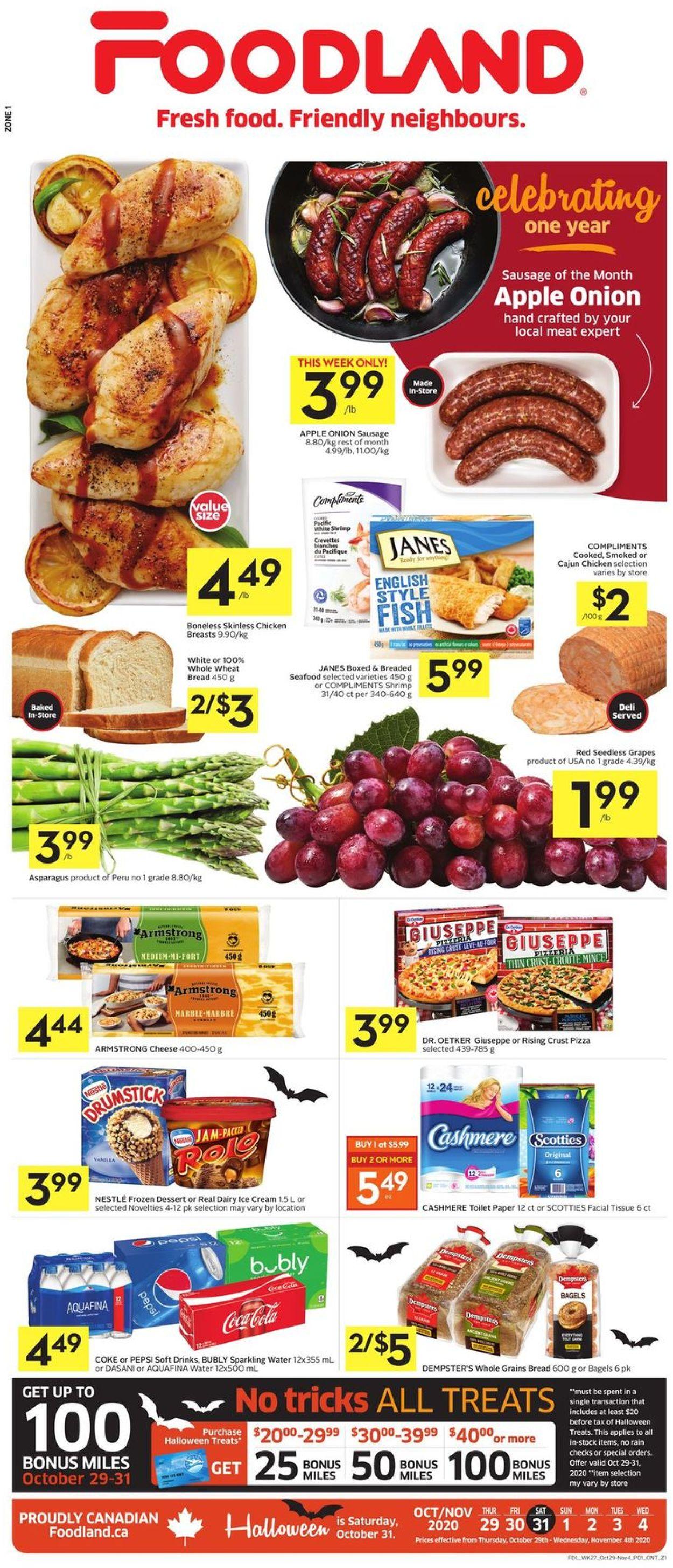 Foodland Flyer - 10/29-11/04/2020