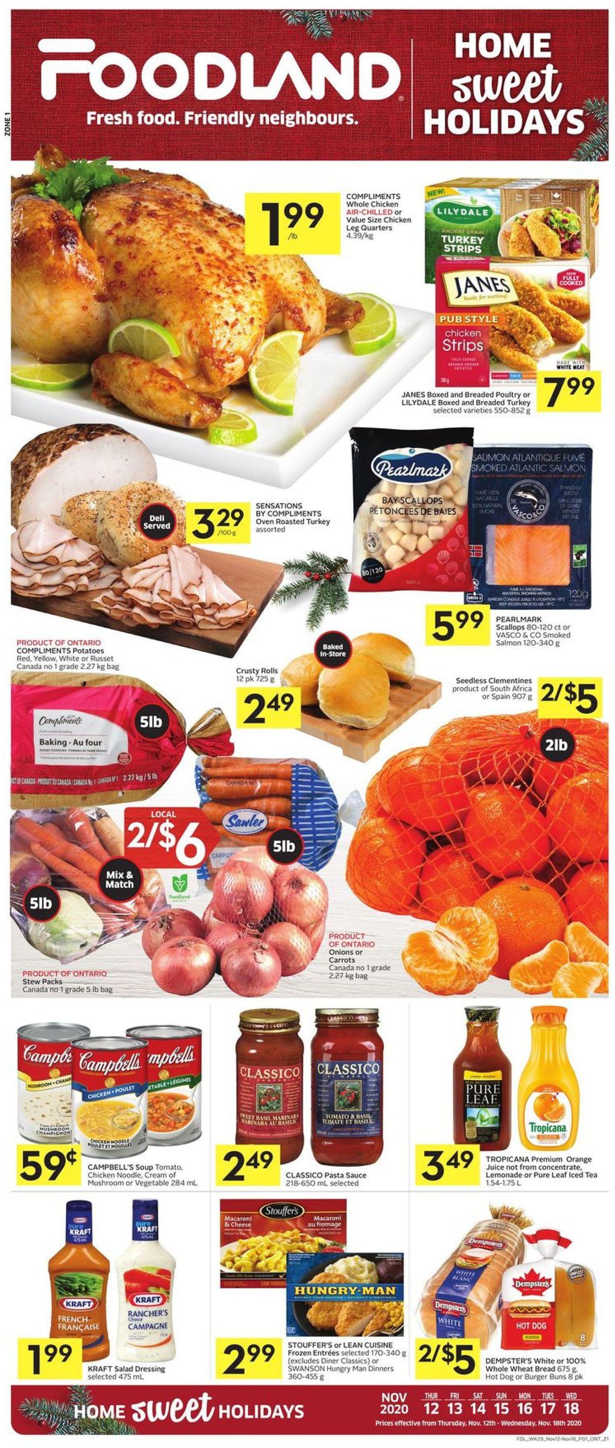 Foodland - Holidays 2020 Flyer - 11/12-11/18/2020