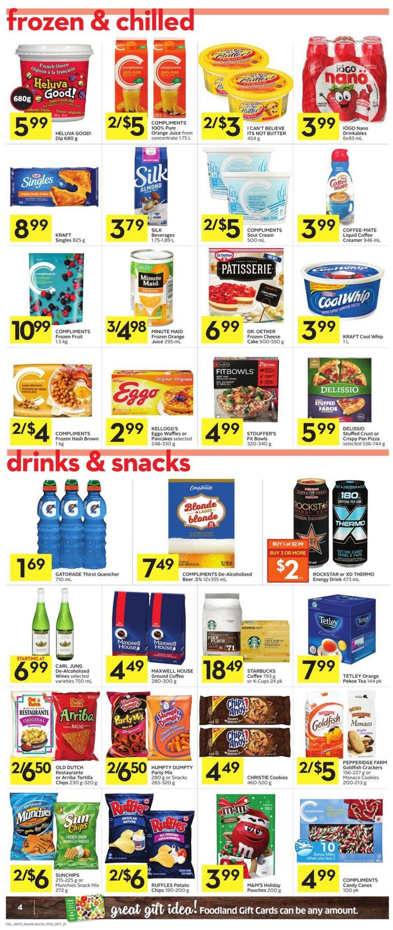 Foodland - Black Friday 2020 Flyer - 11/26-12/02/2020 (Page 4)