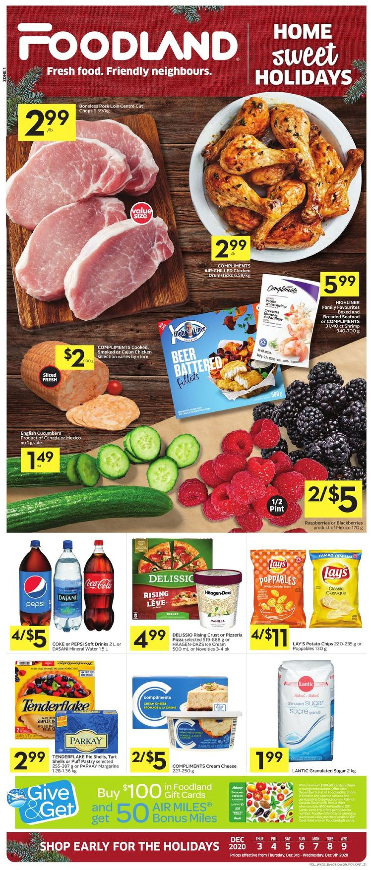 Foodland - Holiday 2020 Flyer - 12/03-12/09/2020