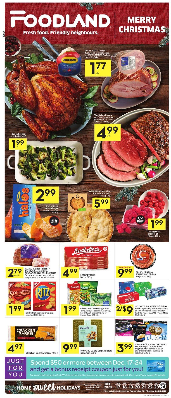 Foodland - Holiday 2020 Flyer - 12/17-12/24/2020