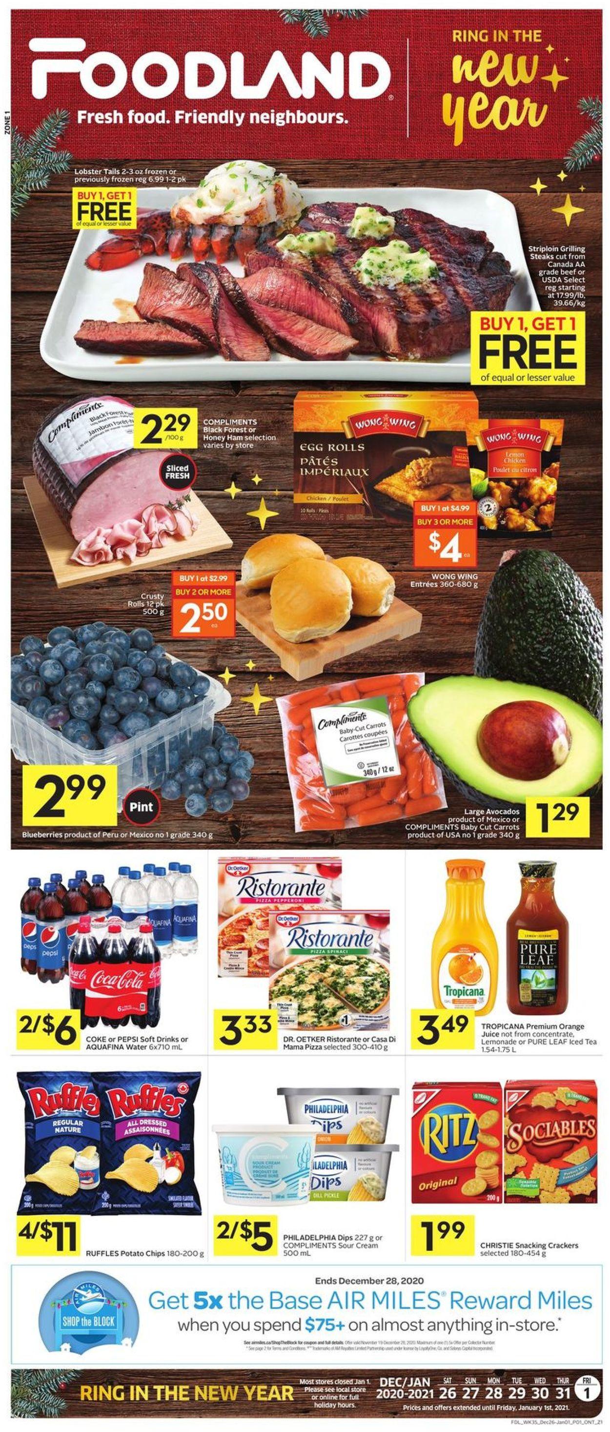 Foodland Flyer - 12/26-01/01/2021
