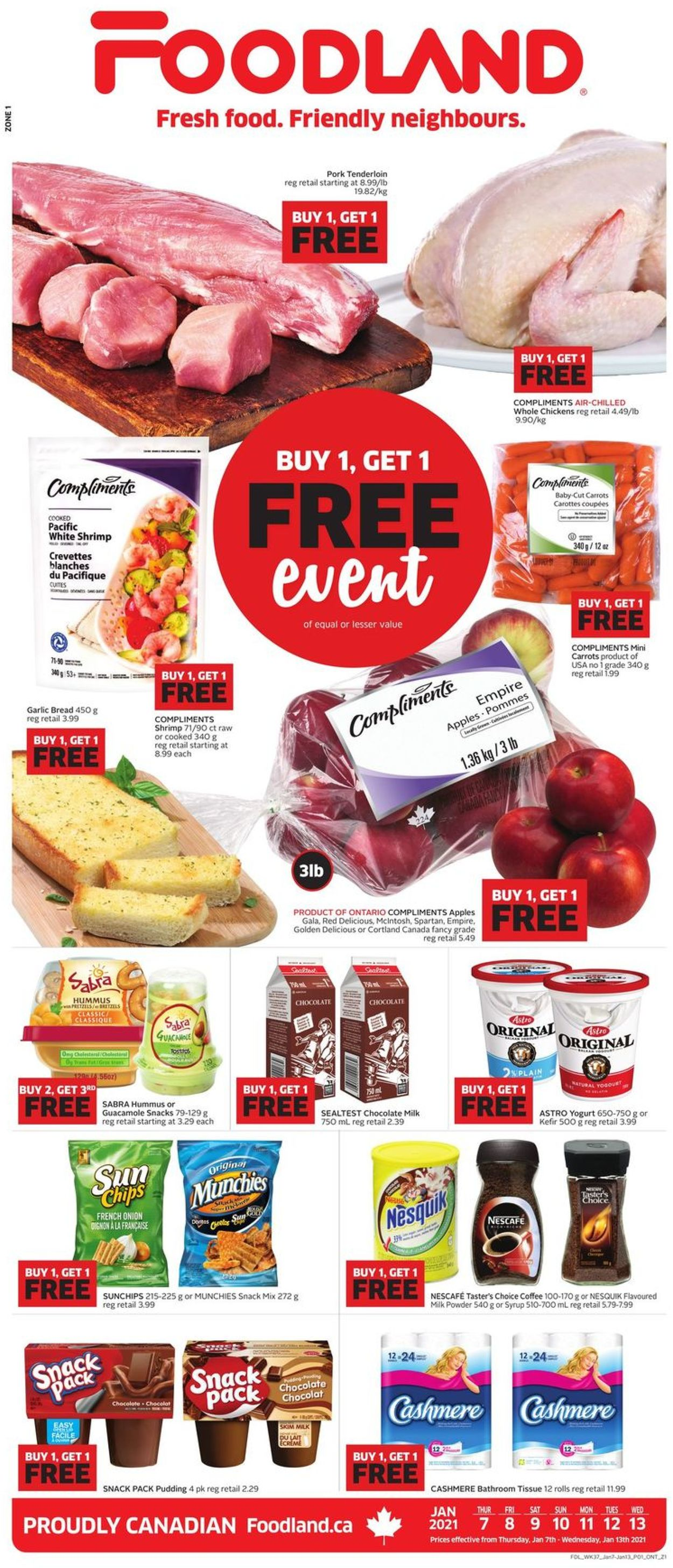 Foodland Flyer - 01/07-01/13/2021