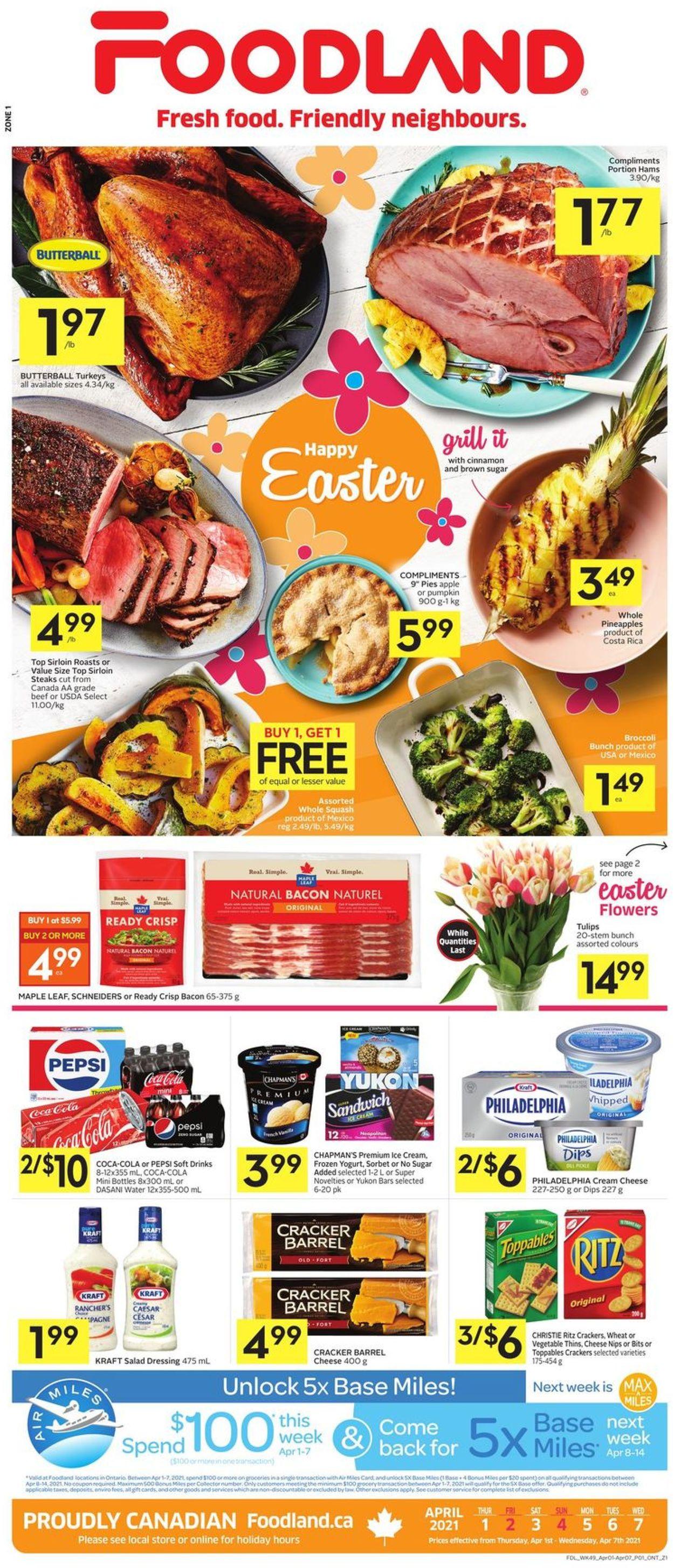 Foodland Flyer - 04/01-04/07/2021