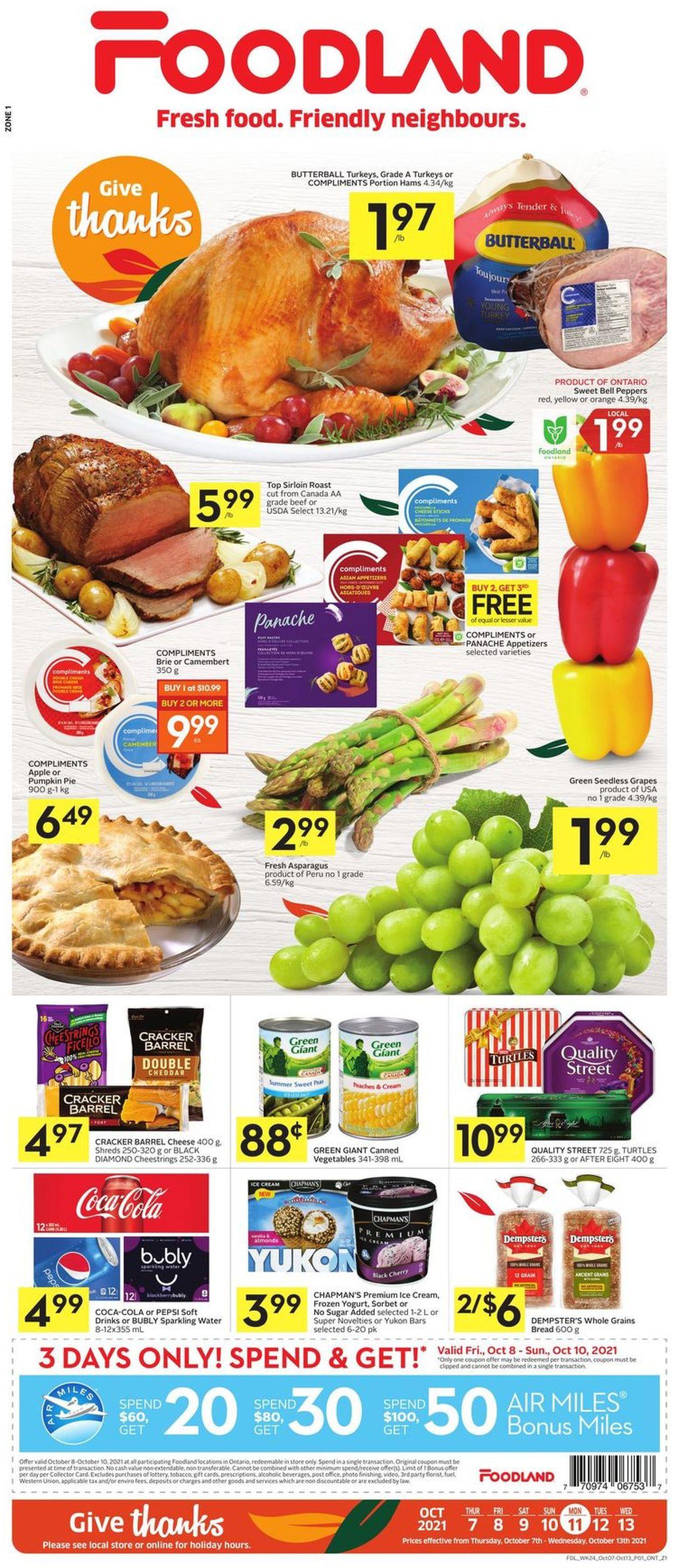 Foodland Flyer - 10/07-10/13/2021