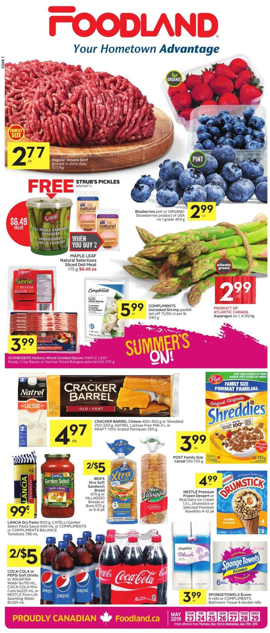 Foodland Flyer - 05/23-05/29/2019