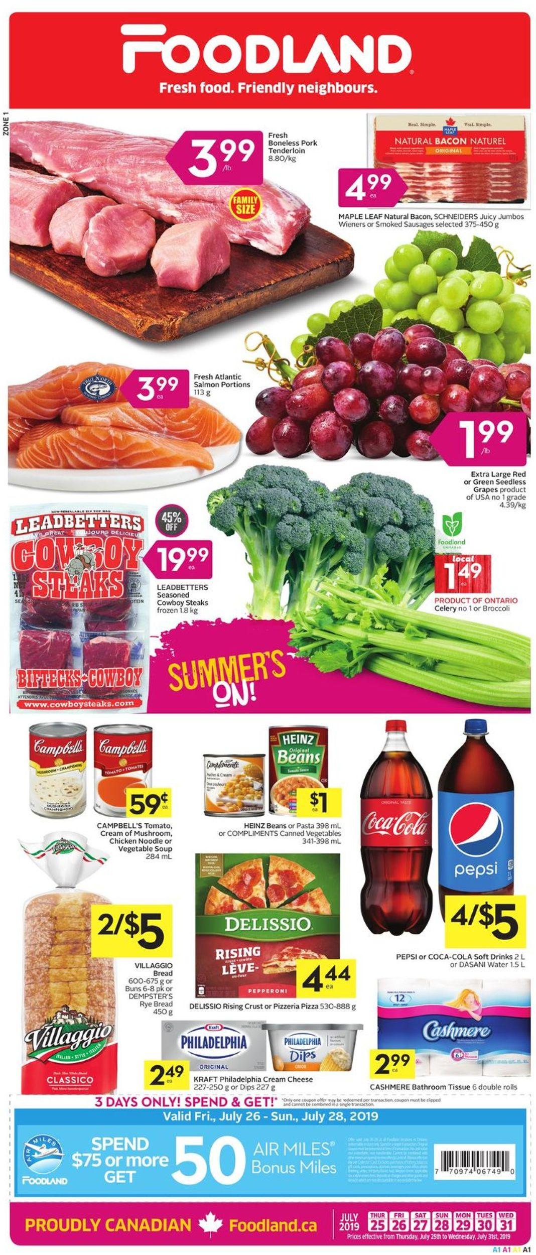 Foodland Flyer - 07/25-07/31/2019