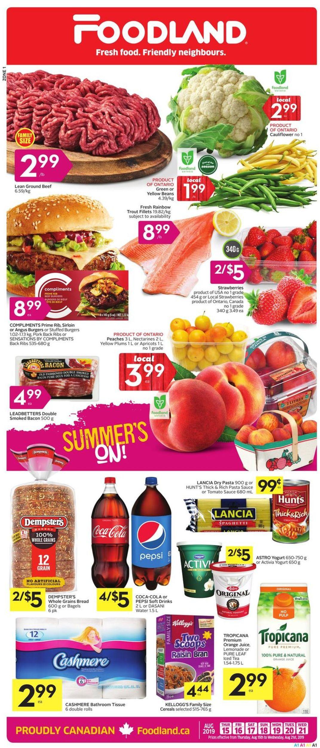 Foodland Flyer - 08/15-08/21/2019