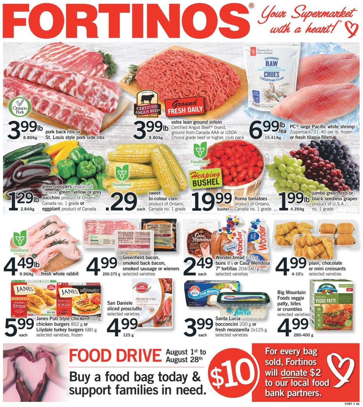Fortinos Flyer - 08/13-08/19/2020