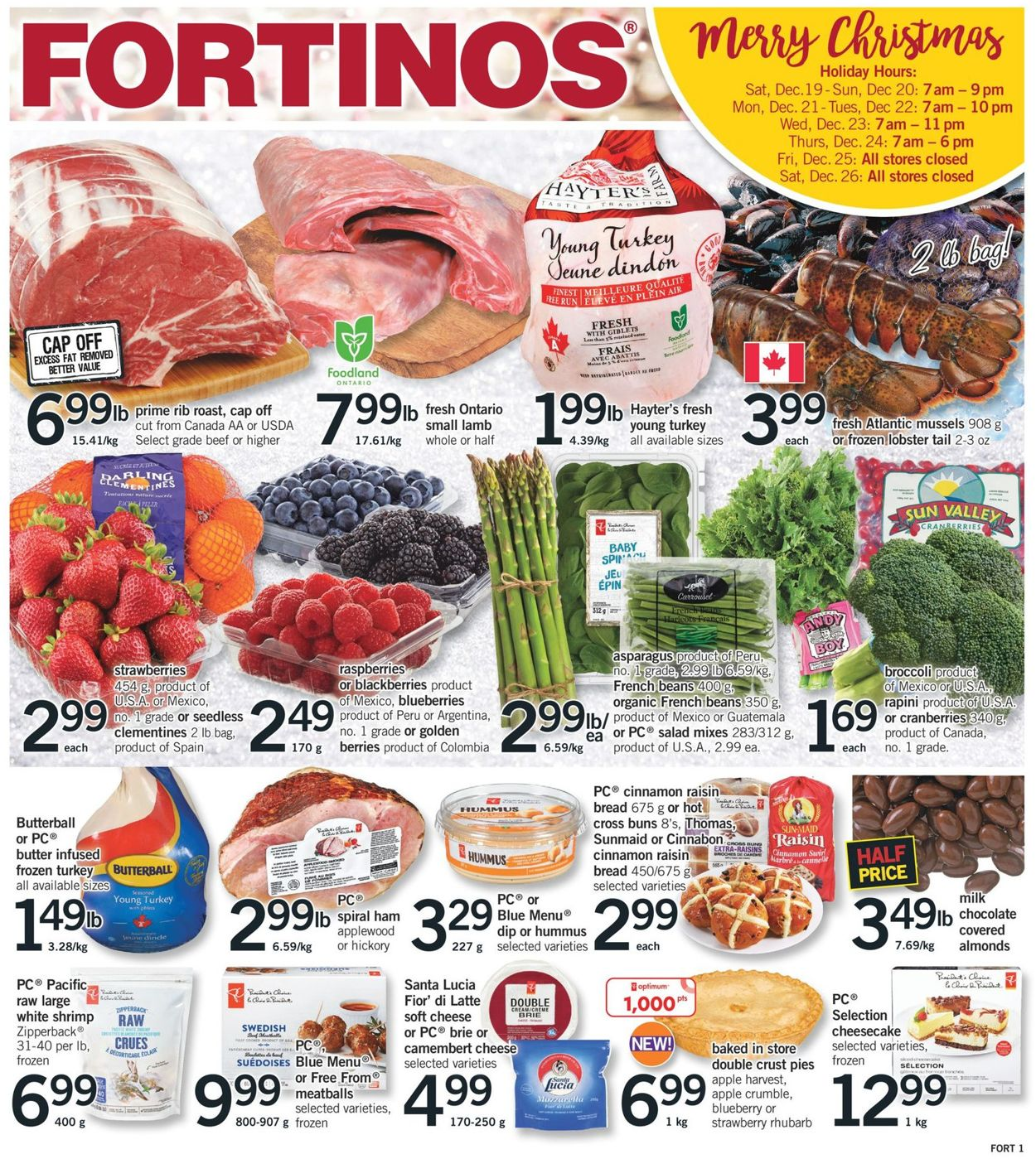 Fortinos- Holiday 2020 Flyer - 12/17-12/24/2020
