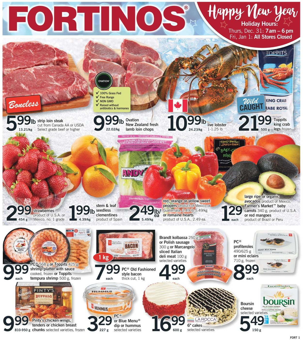 Fortinos - New Year 2021 Flyer - 12/31-01/06/2021