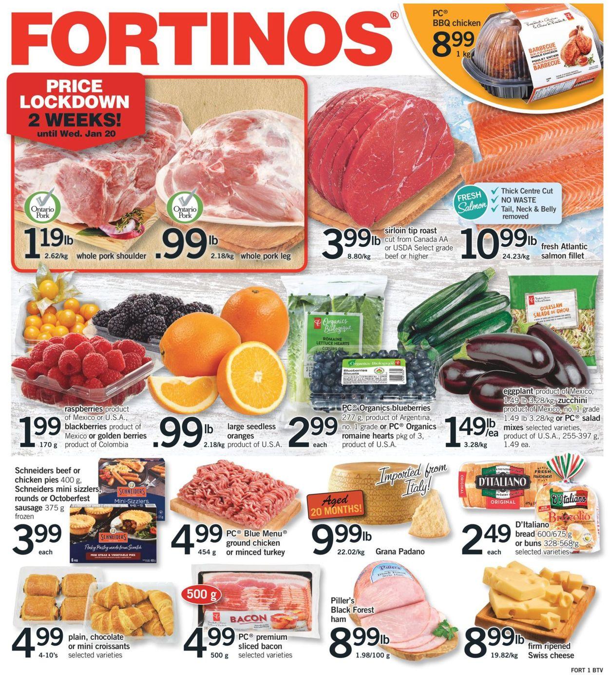 Fortinos Flyer - 01/14-01/20/2021