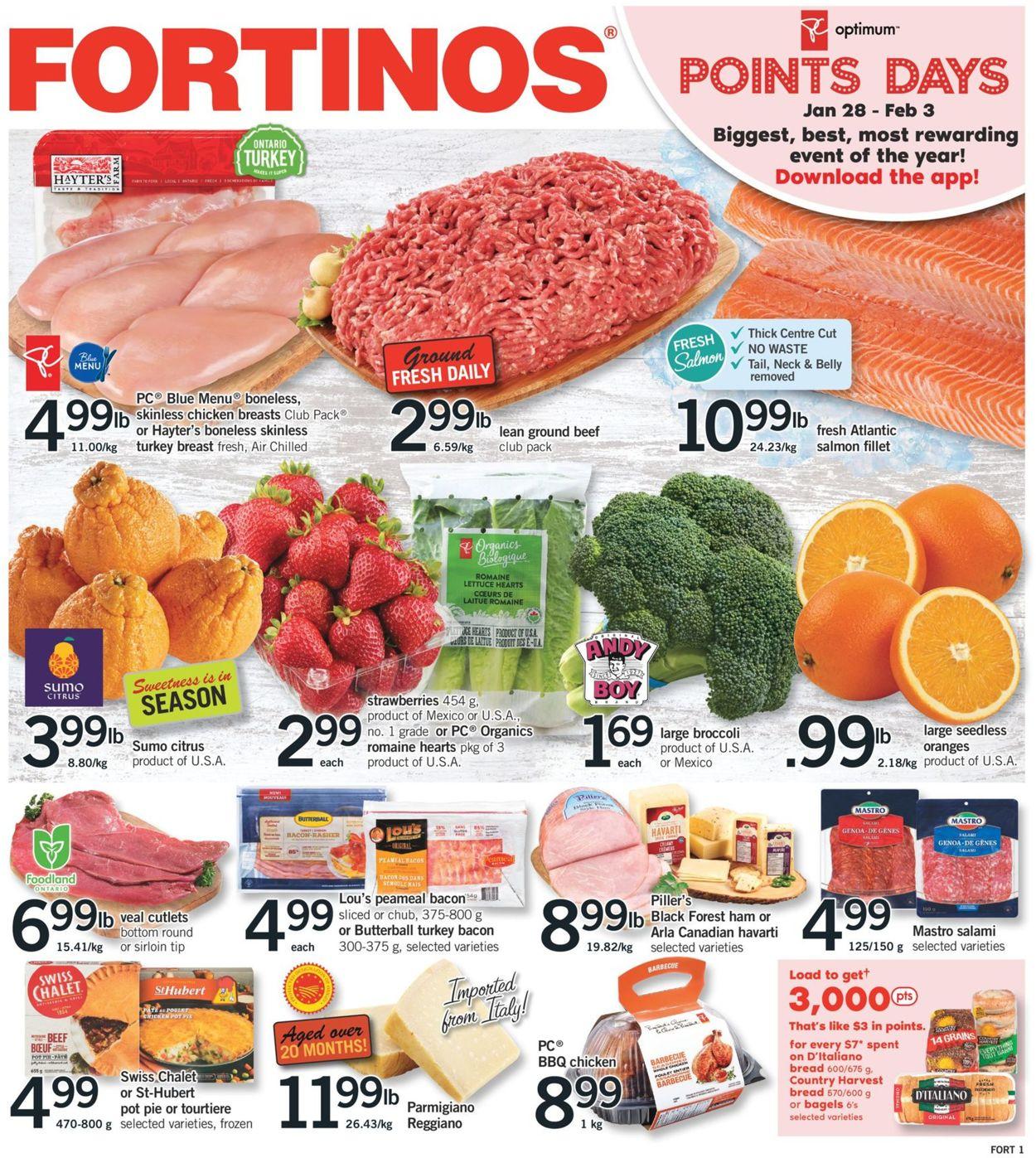 Fortinos Flyer - 01/28-02/03/2021