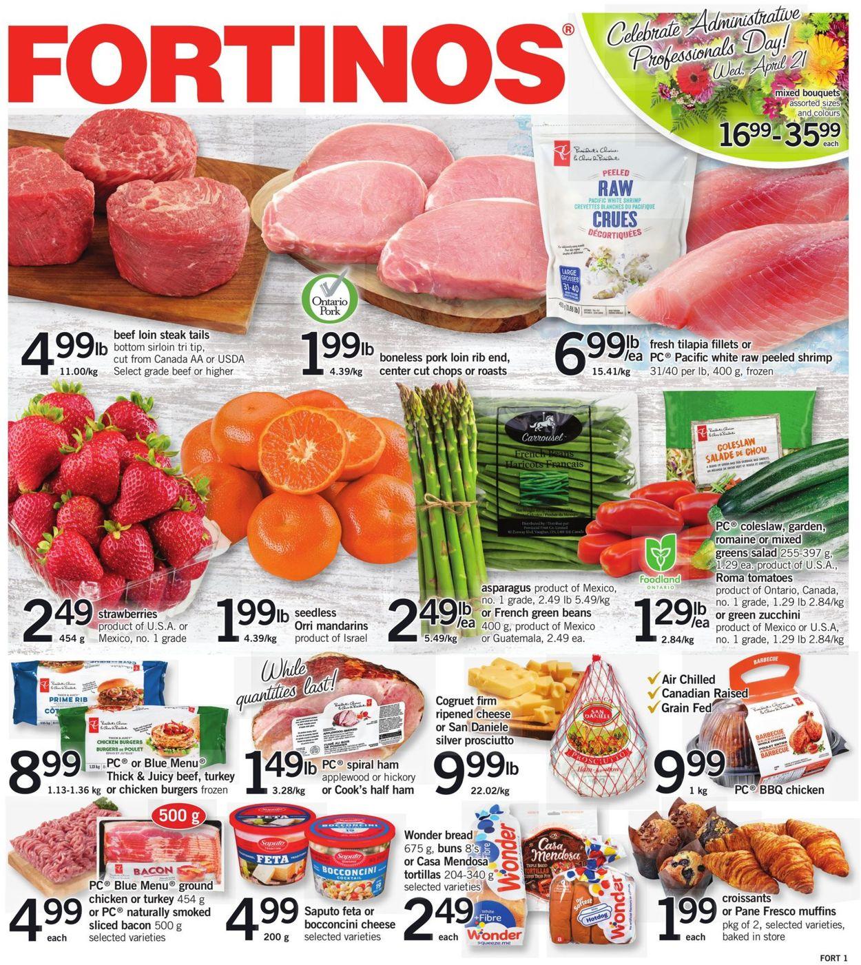 Fortinos Flyer - 04/15-04/21/2021