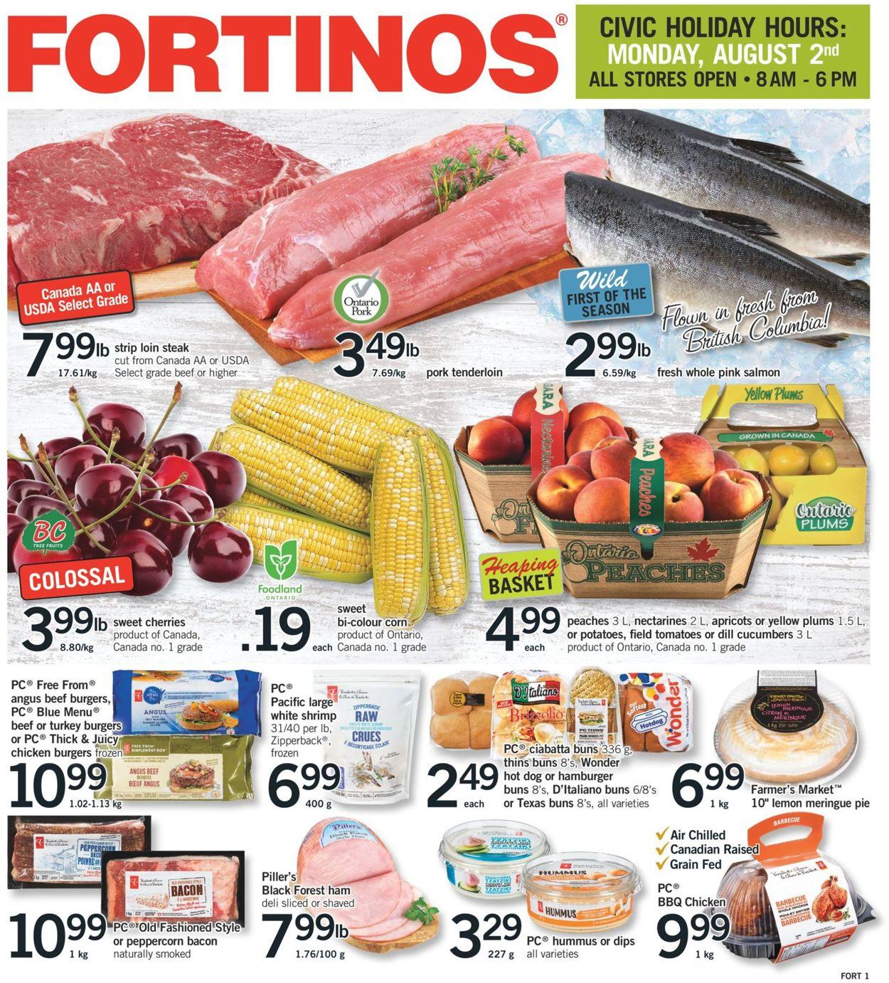Fortinos Flyer - 07/29-08/04/2021
