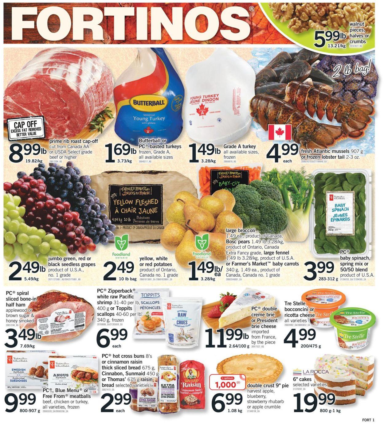Fortinos Flyer - 09/30-10/06/2021