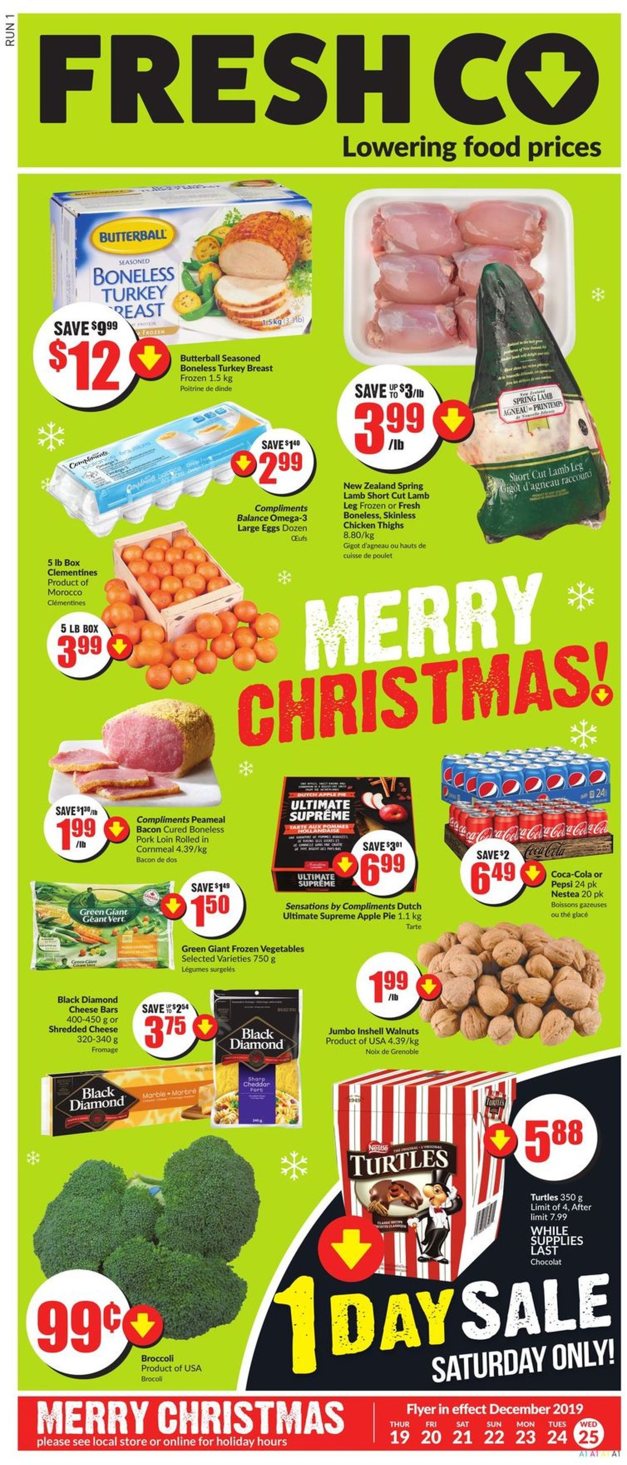 FreshCo. Christmas Flyer 2019