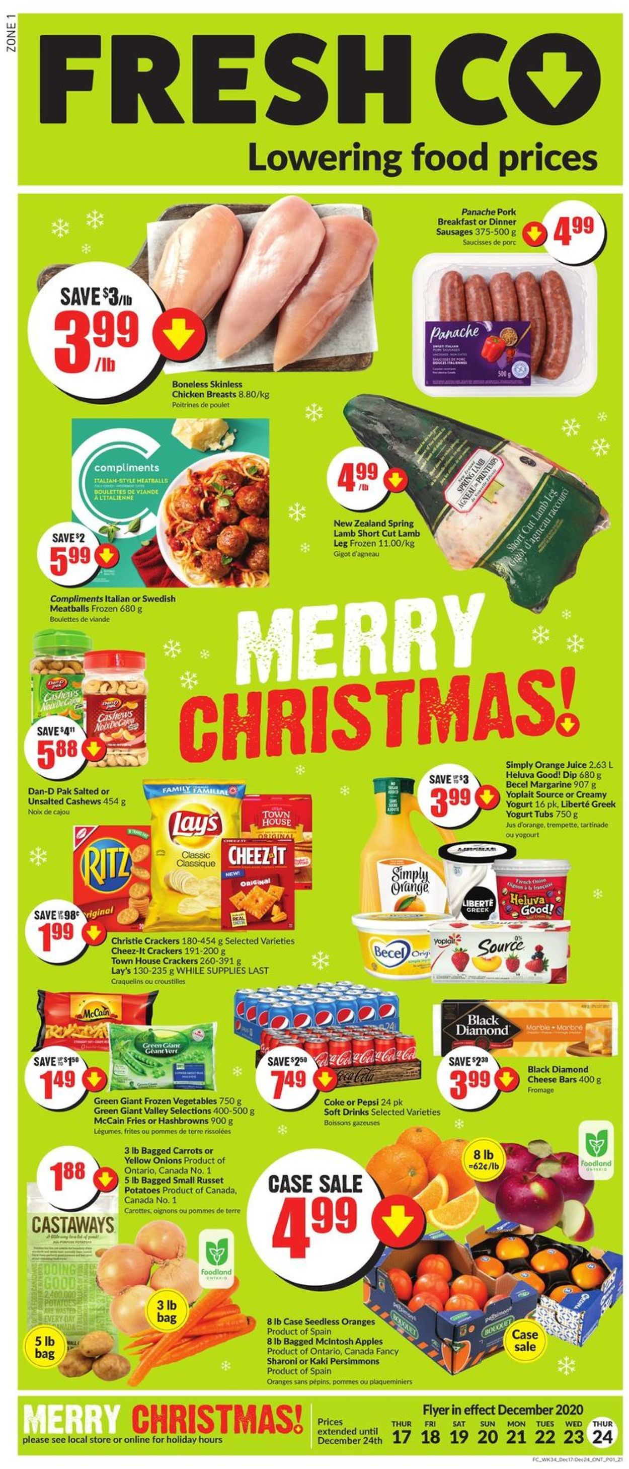 FreshCo. - Holiday 2020 Flyer - 12/17-12/24/2020
