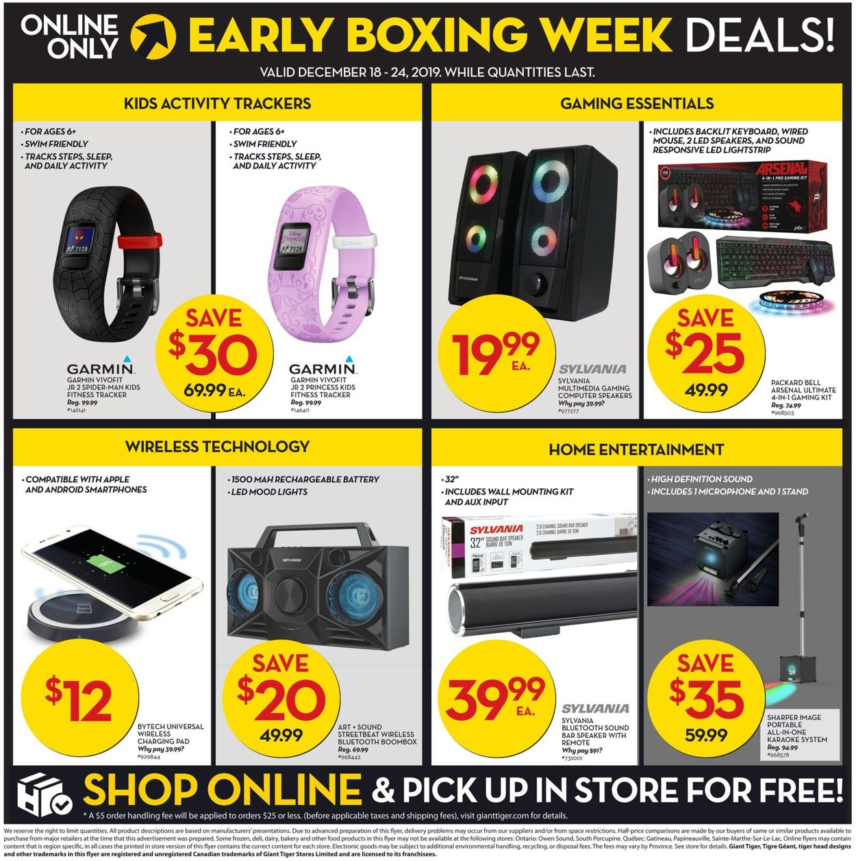 Giant Tiger Boxing Week 2019 Flyer - 12/18-12/24/2019