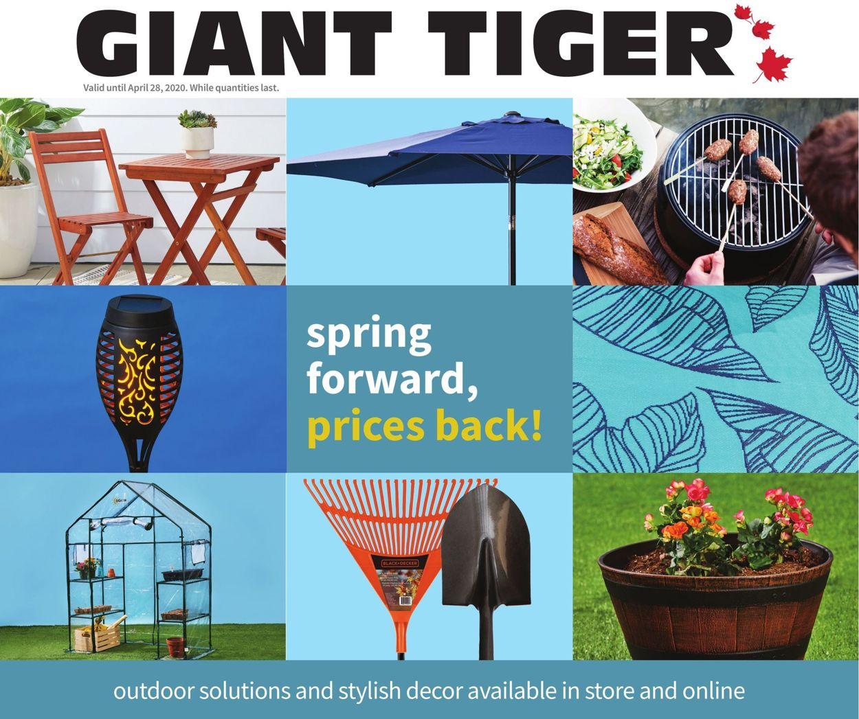 Giant Tiger Flyer - 03/26-04/28/2020
