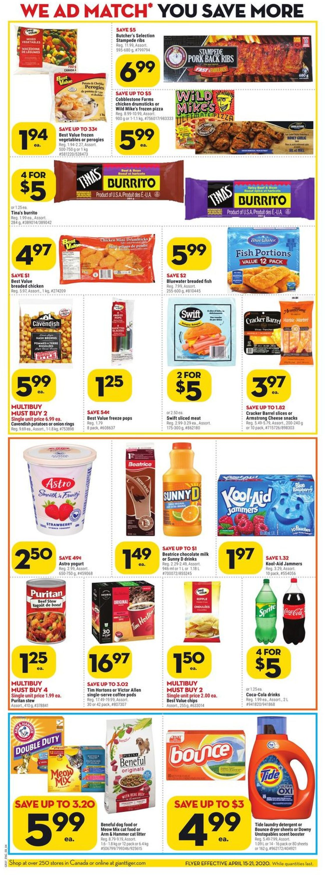 Giant Tiger Flyer - 04/15-04/21/2020 (Page 4)