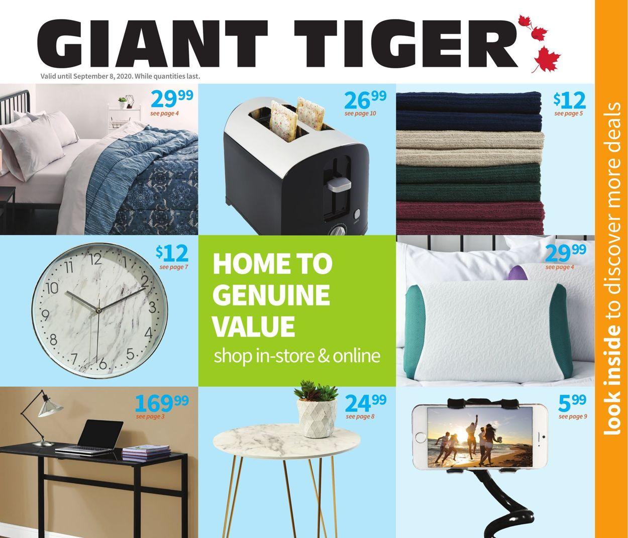 Giant Tiger Flyer - 08/12-09/08/2020