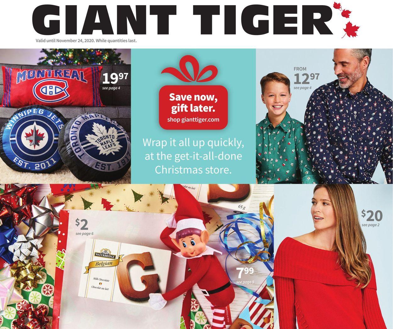 Giant Tiger - Christmas 2020 Flyer - 11/11-11/24/2020