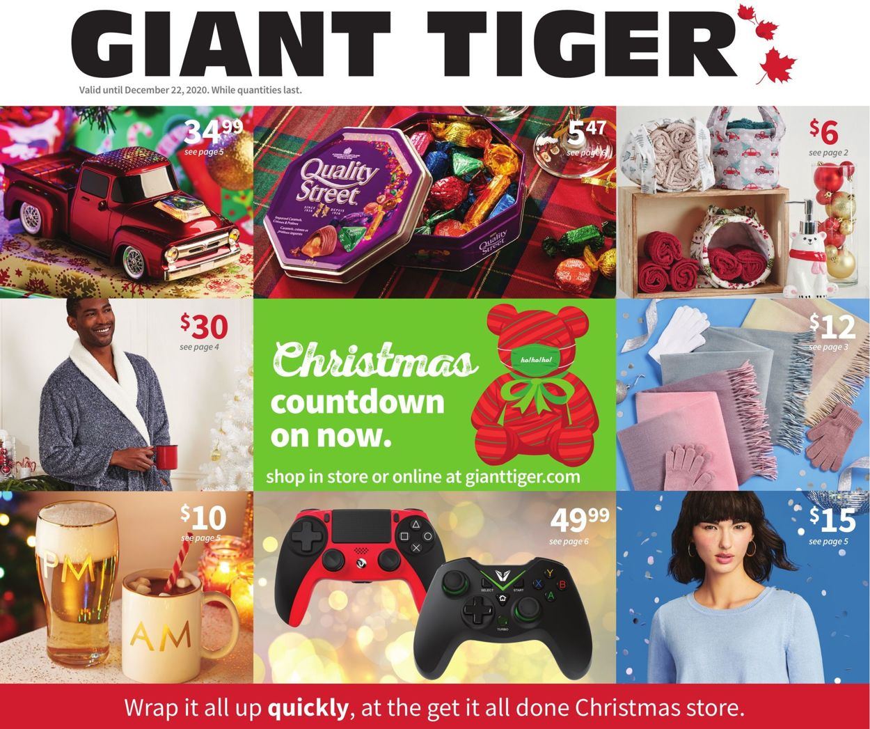 Giant Tiger - Holiday 2020 Flyer - 12/16-12/22/2020
