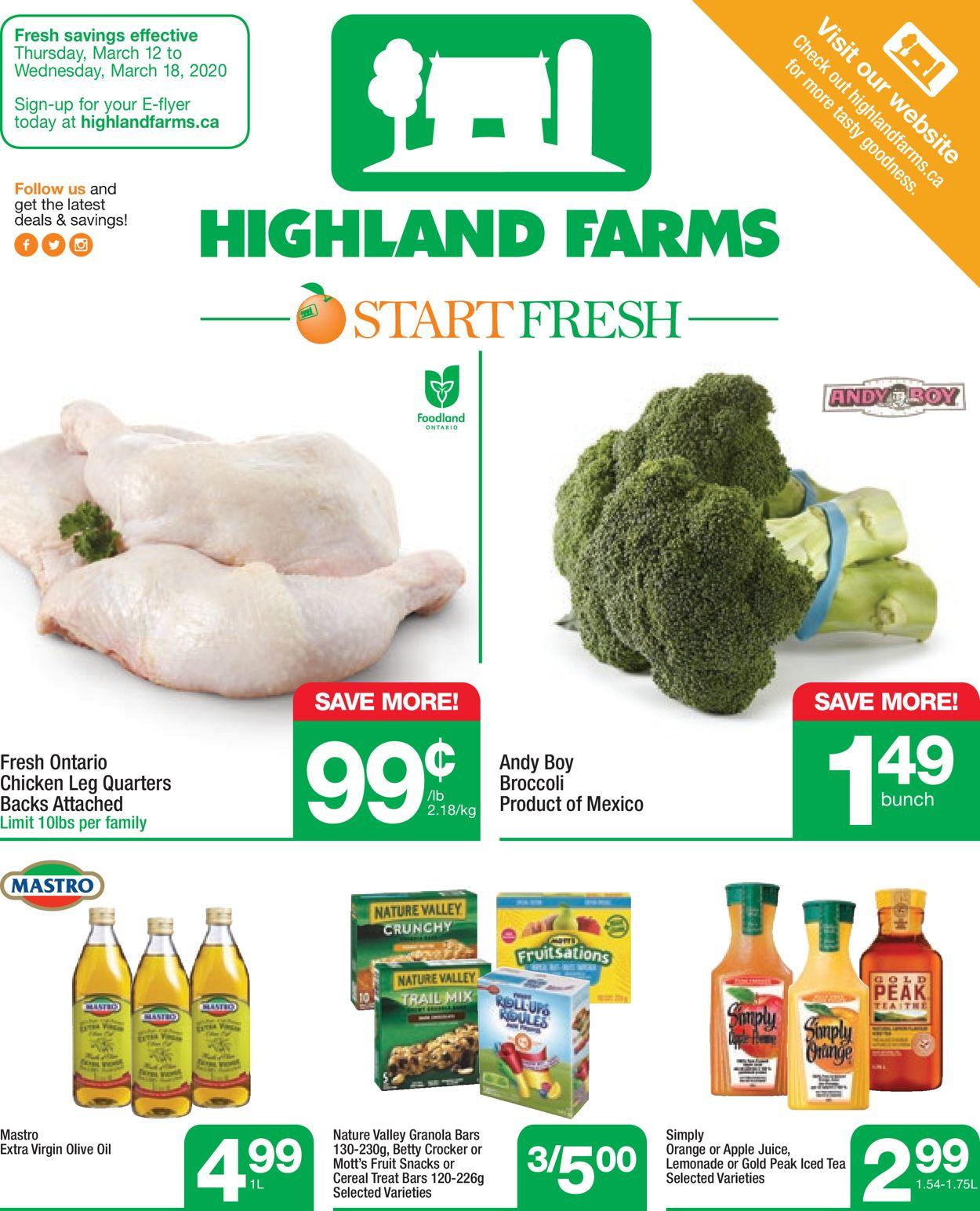 Highland Farms Flyer - 03/12-03/18/2020