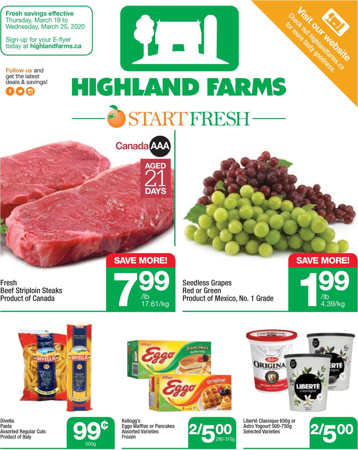 Highland Farms Flyer - 03/19-03/25/2020