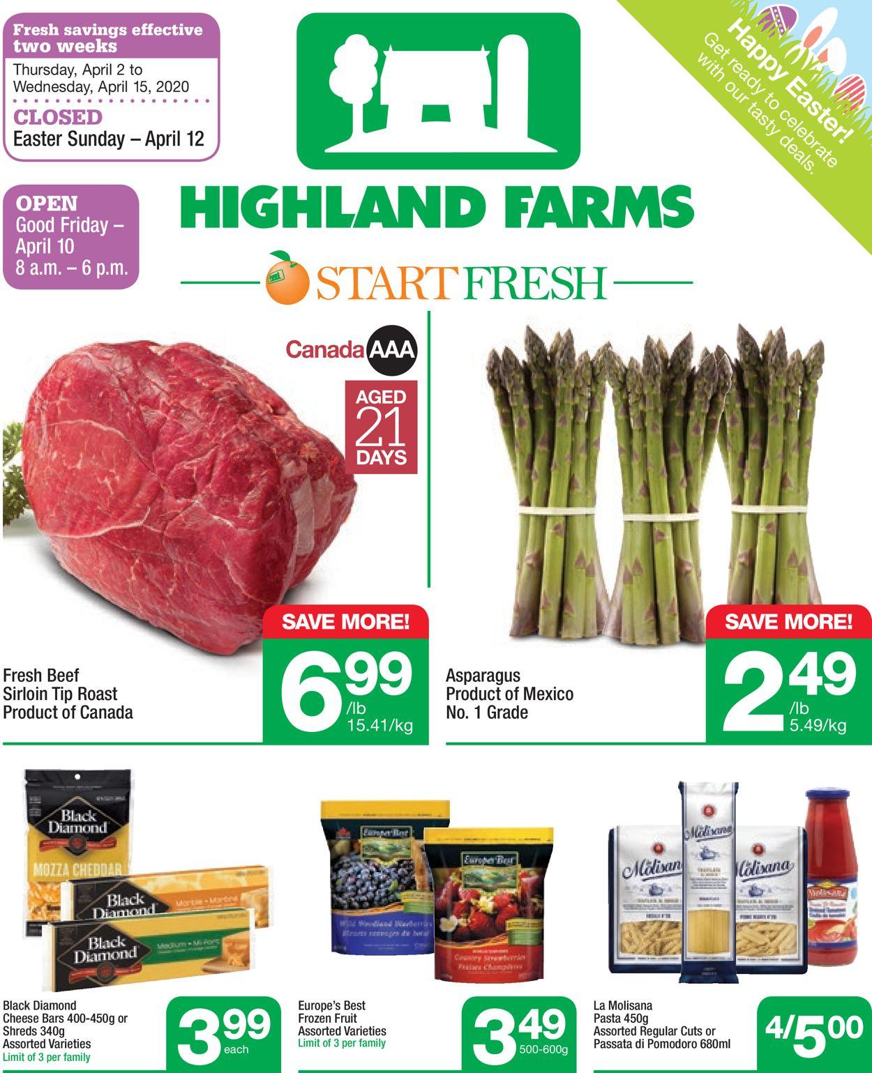 Highland Farms Flyer - 04/02-04/15/2020