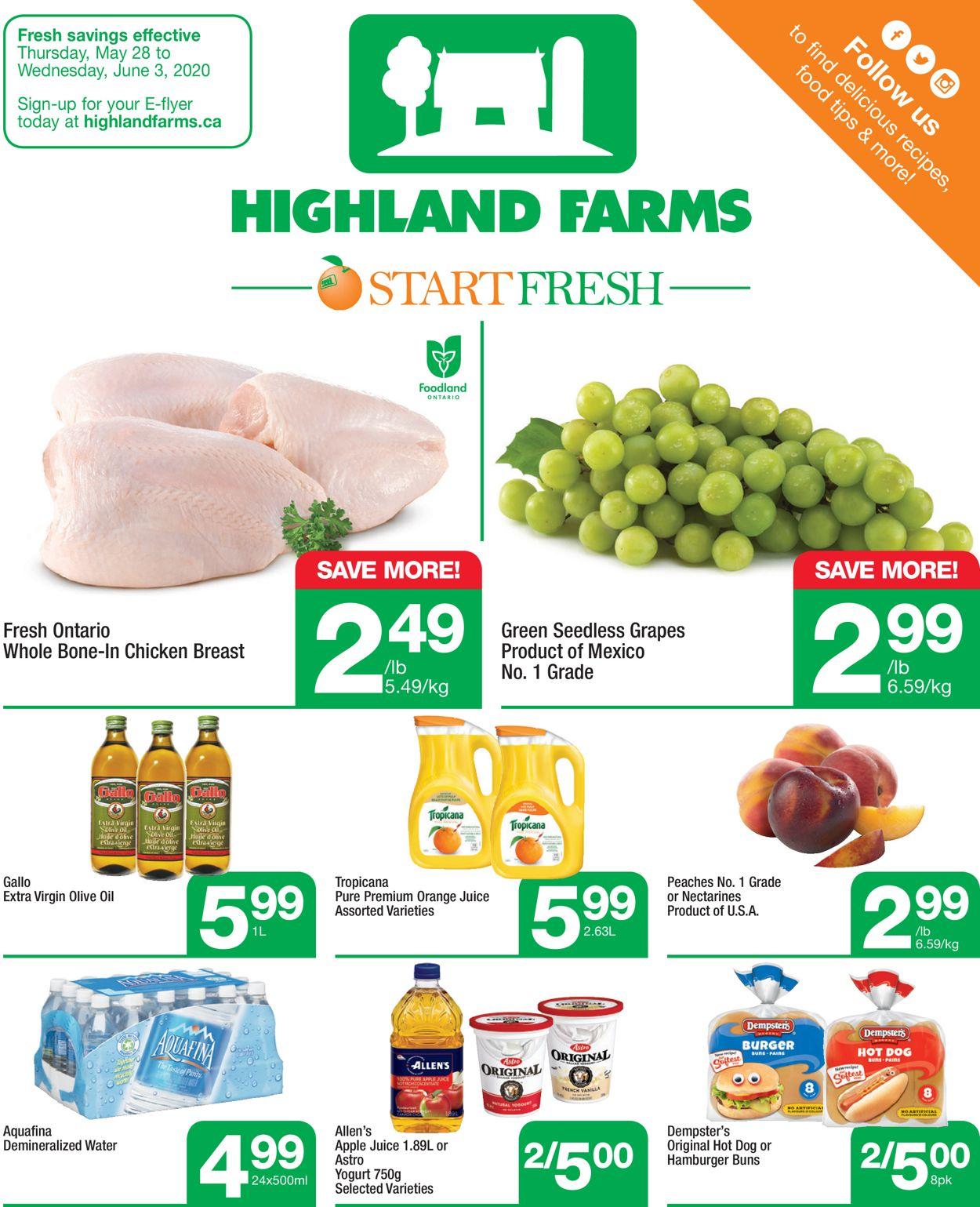 Highland Farms Flyer - 05/28-06/03/2020