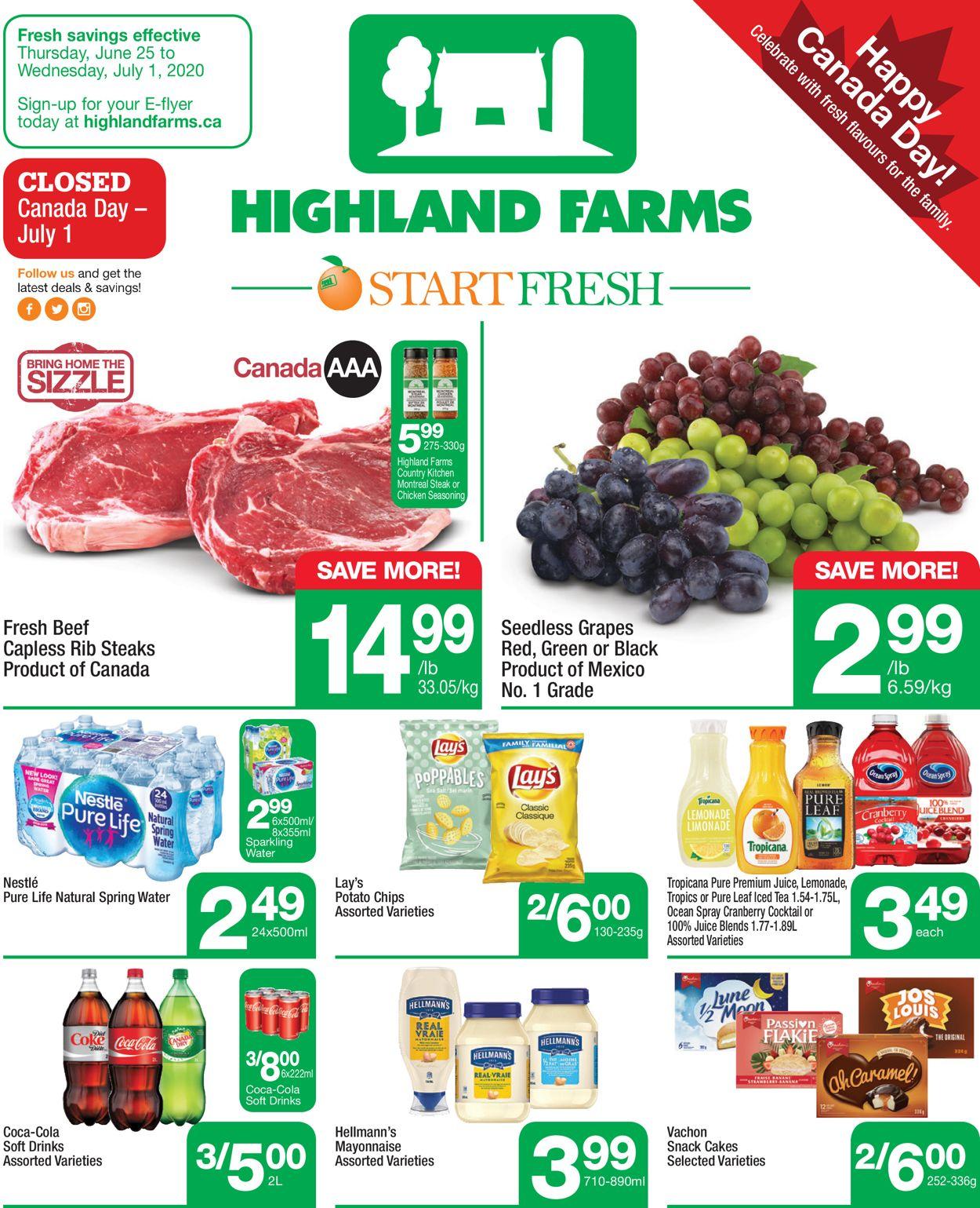 Highland Farms Flyer - 06/25-07/01/2020