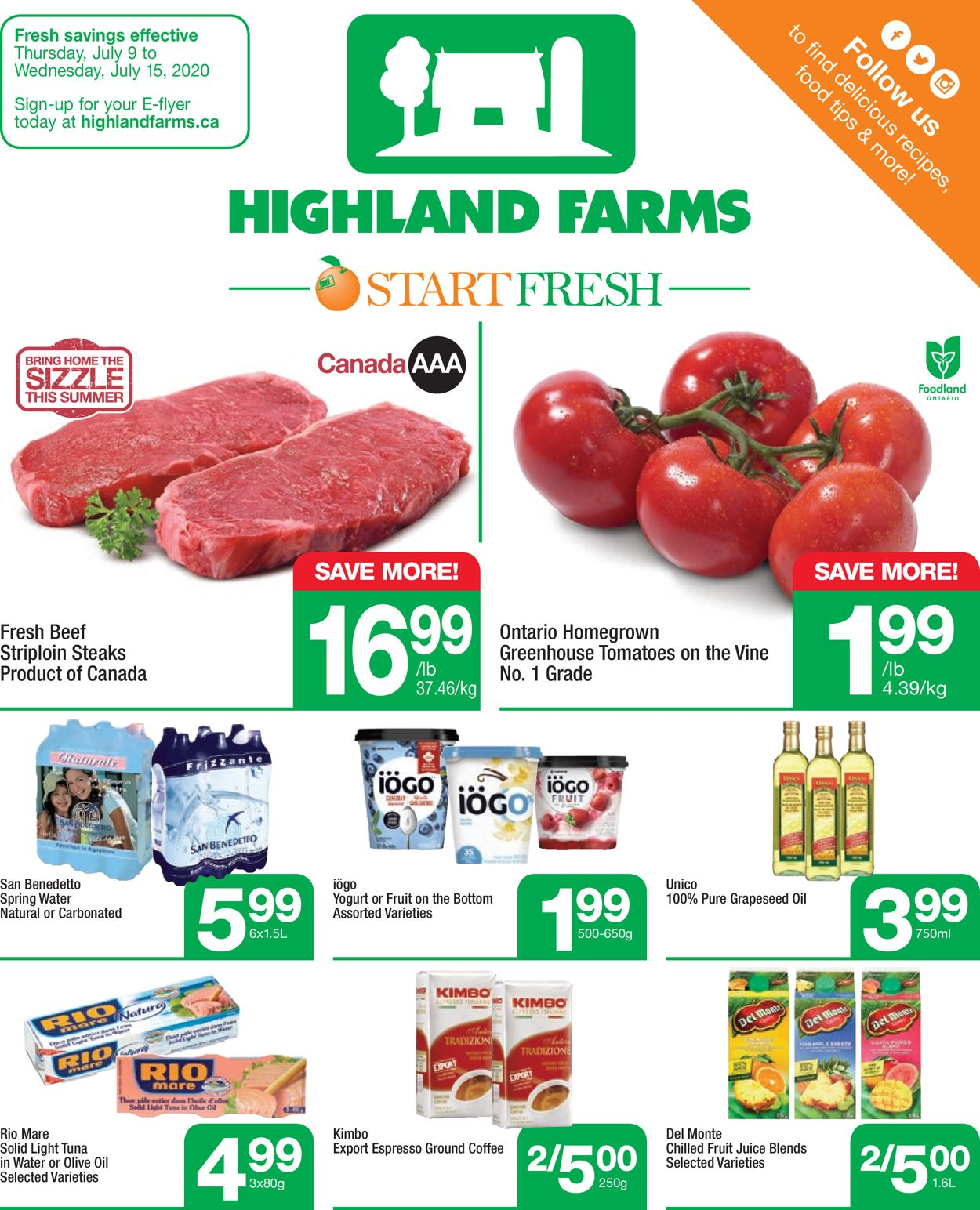 Highland Farms Flyer - 07/09-07/15/2020