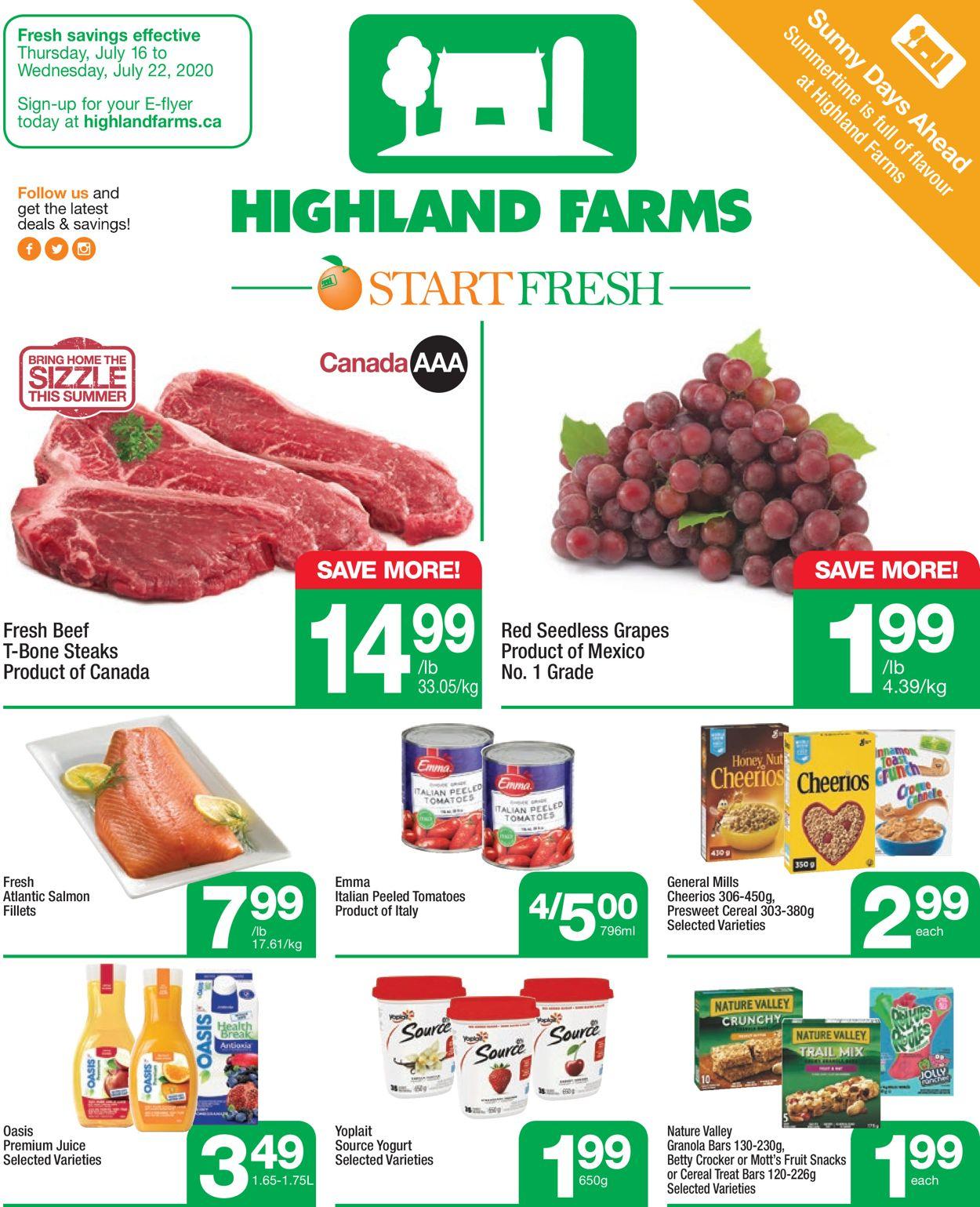 Highland Farms Flyer - 07/16-07/22/2020