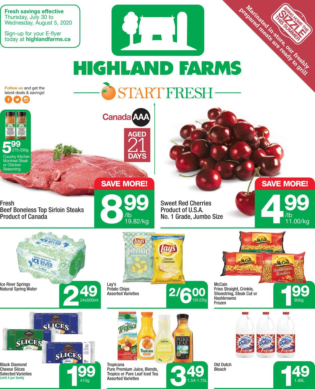 Highland Farms Flyer - 07/30-08/05/2020